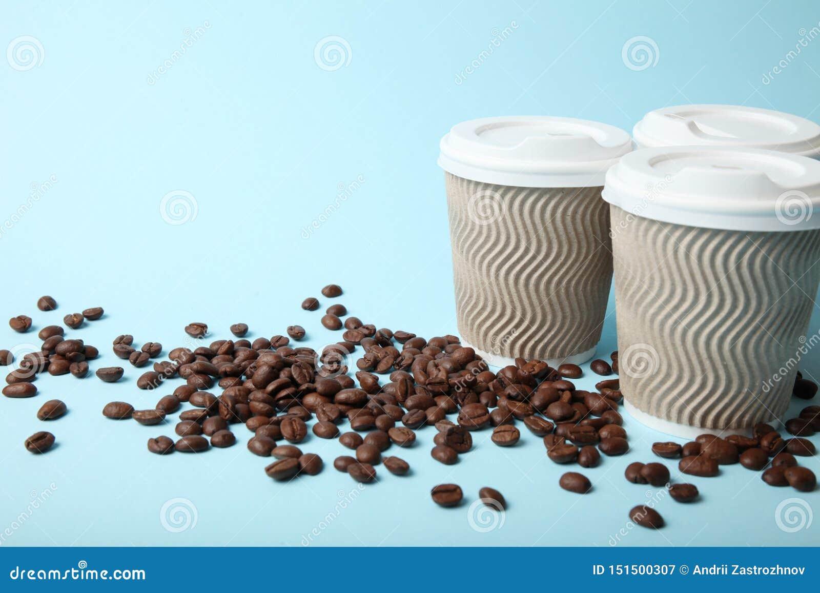 Taza de servicio del caf?, para llevar y del barista