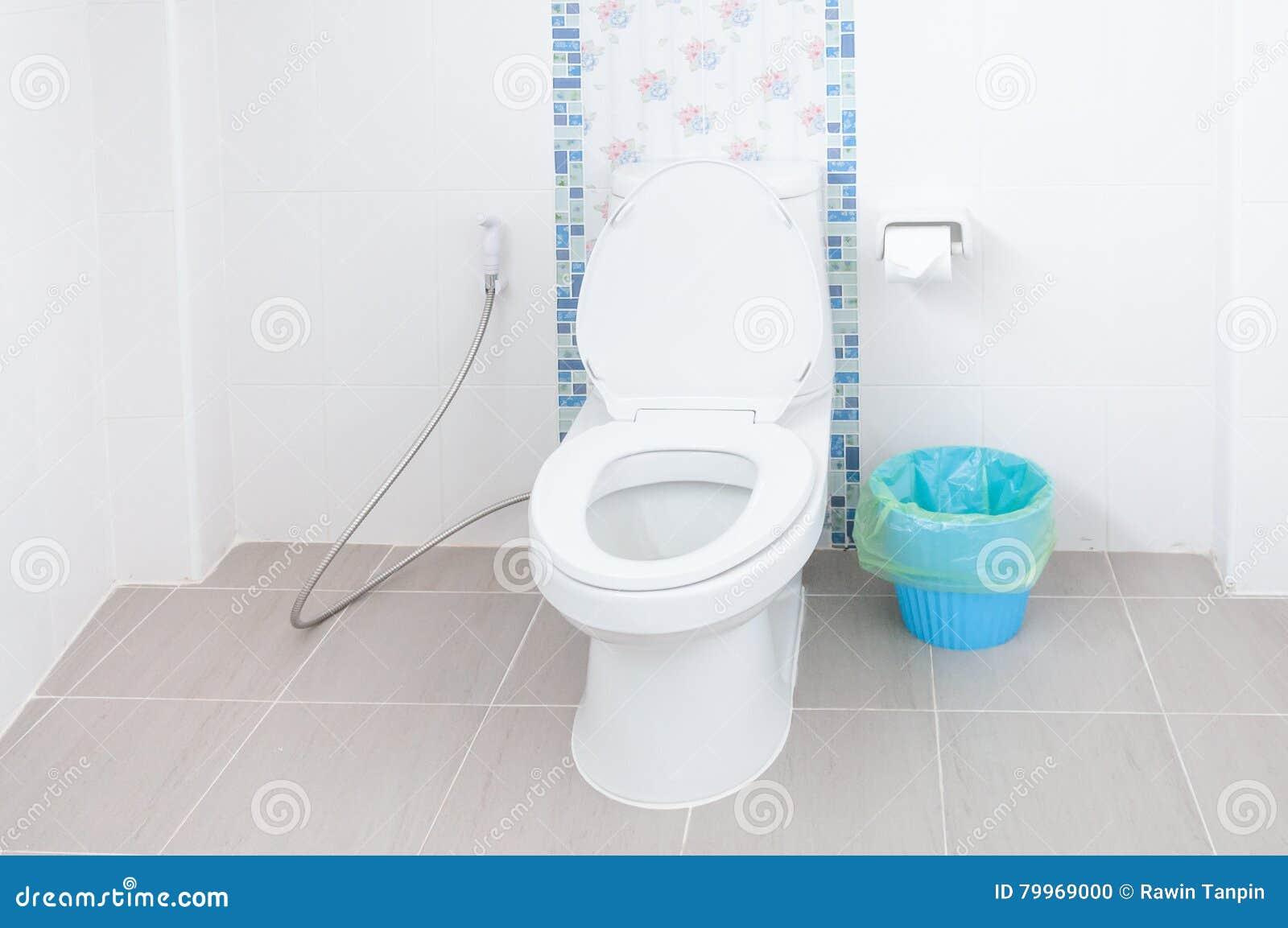 Taza Del Inodoro En Un Cuarto De Ba O Fotos De Stock Registrate  ~ Como Limpiar El Fondo Del Inodoro