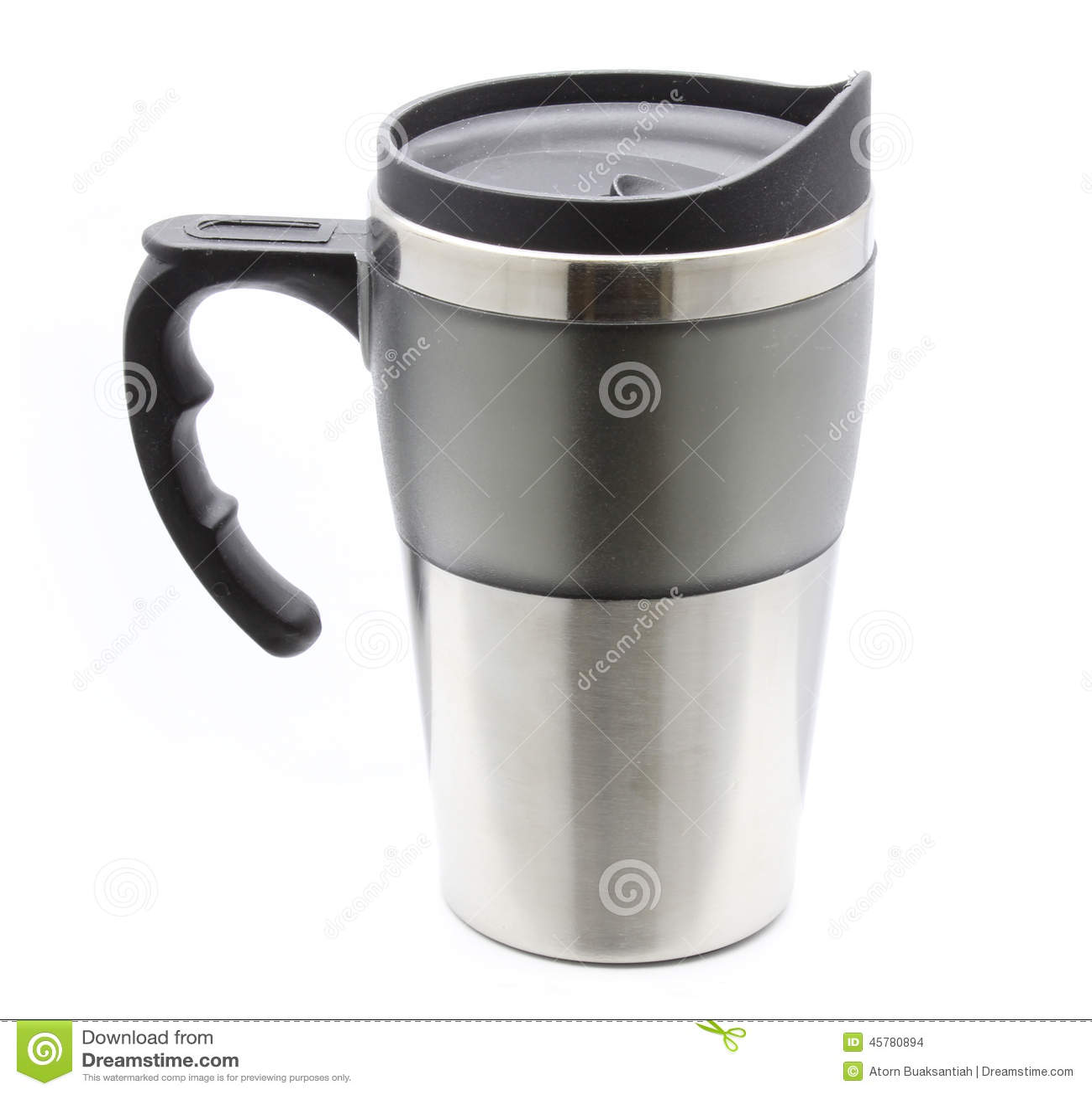 Taza del termo con la manija para las bebidas calientes for Manija para taza de bano