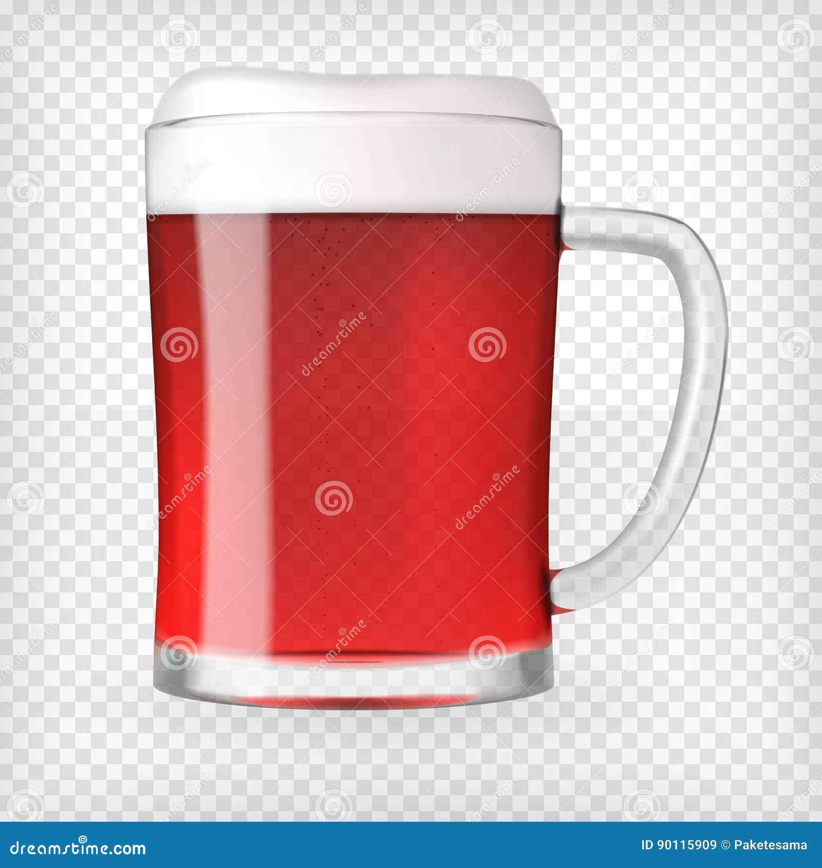 Taza realista con la cerveza