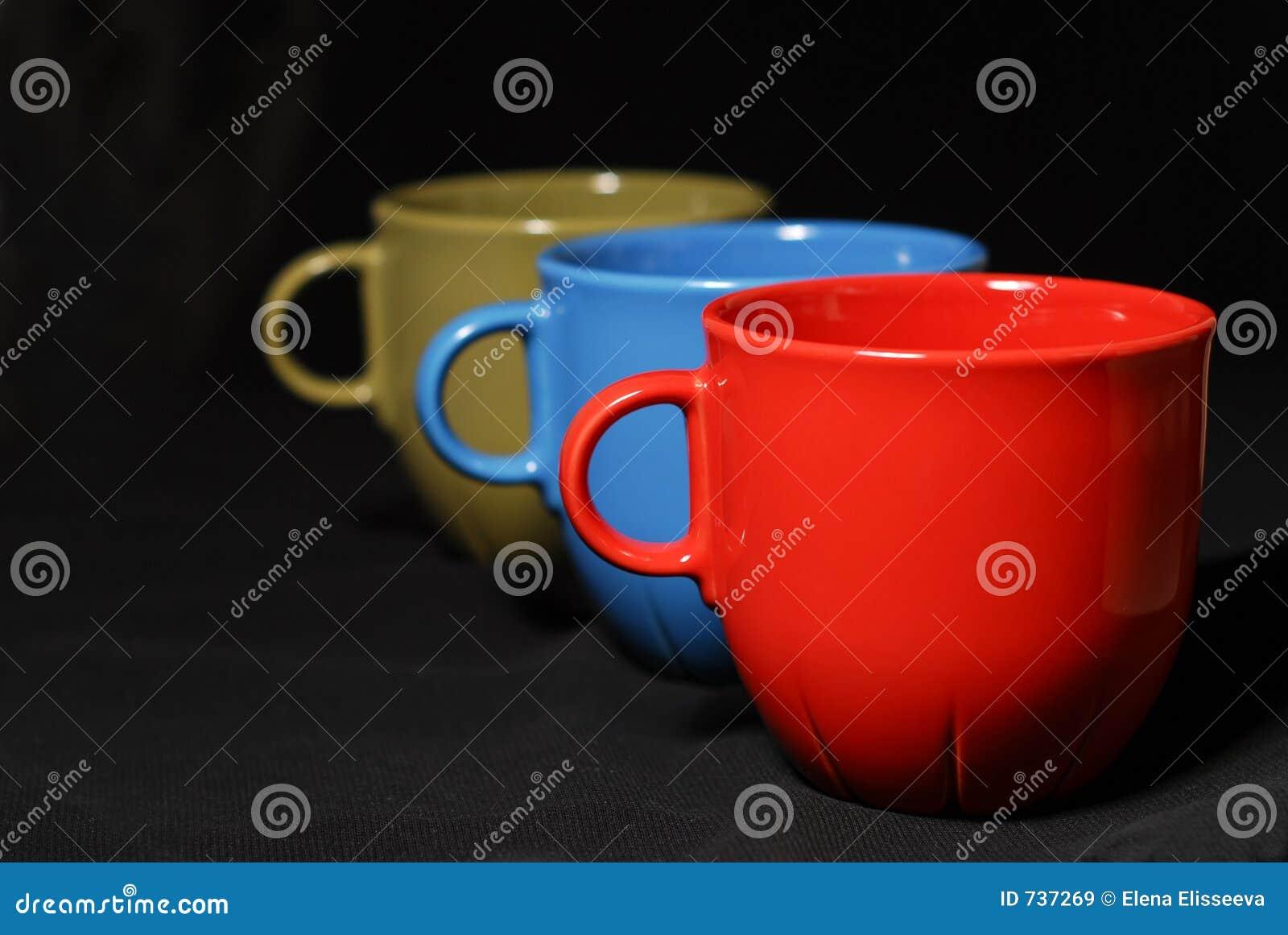 Tazas de café coloridas
