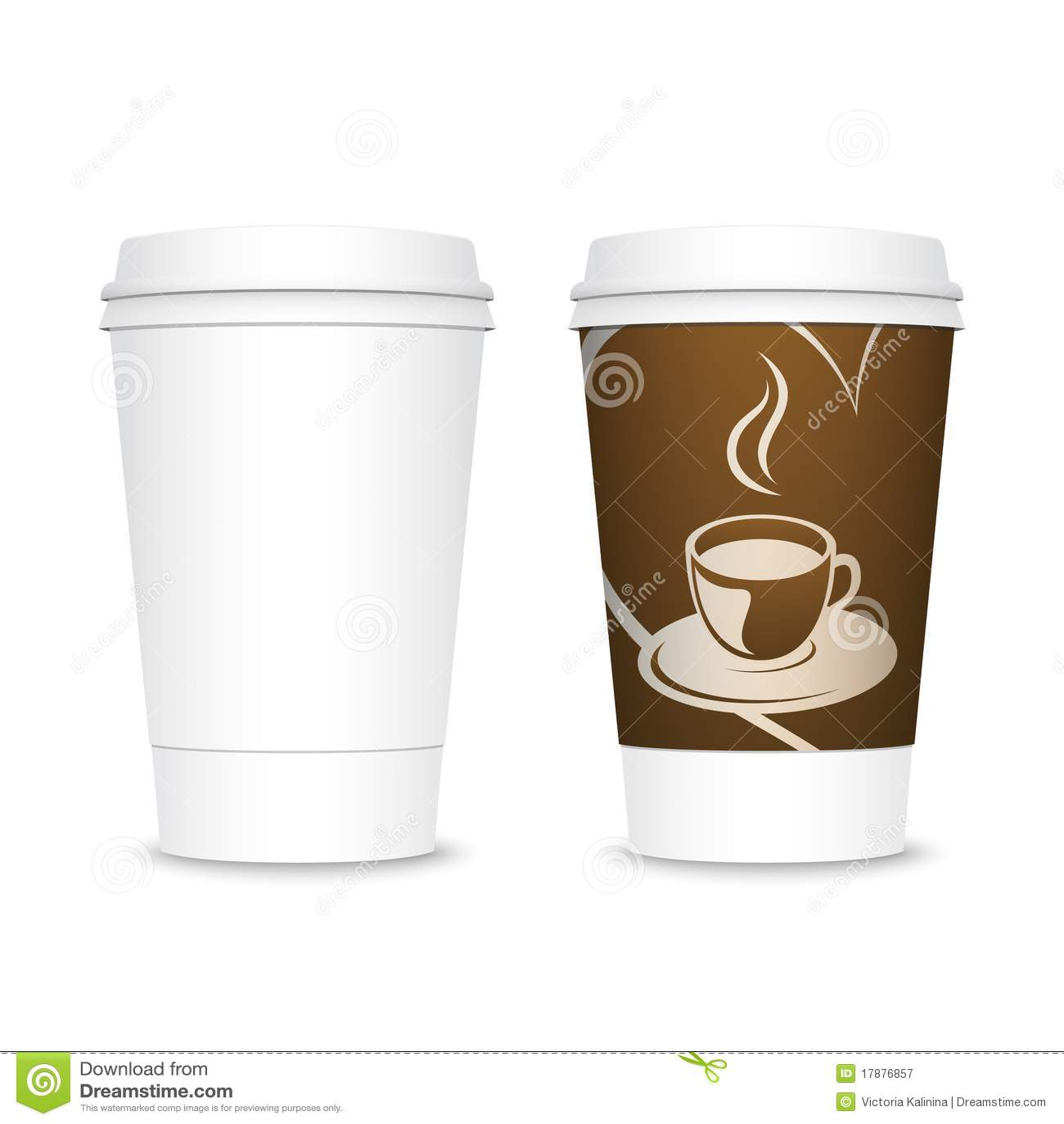 Tazas de caf para llevar pl sticas fotograf a de archivo for Cafe para llevar