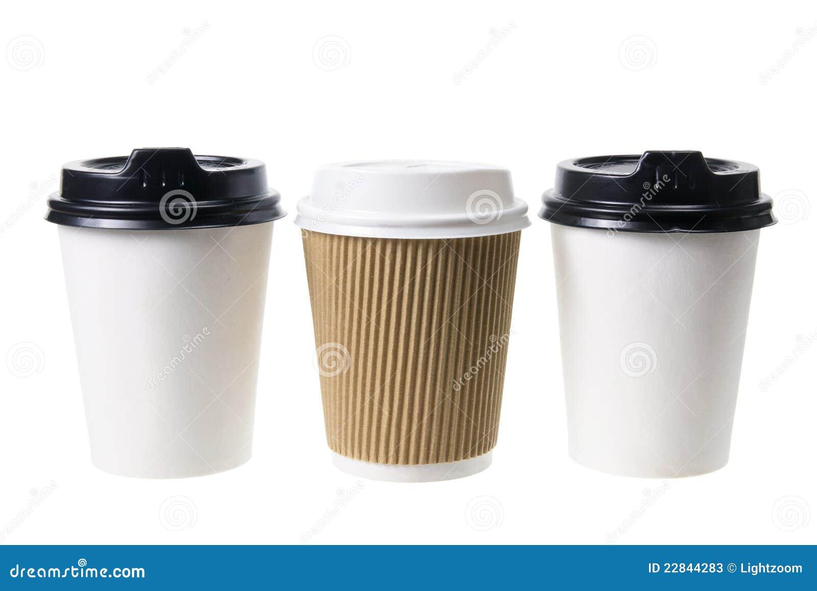 Tazas de caf para llevar fotos de archivo imagen 22844283 for Cafe para llevar