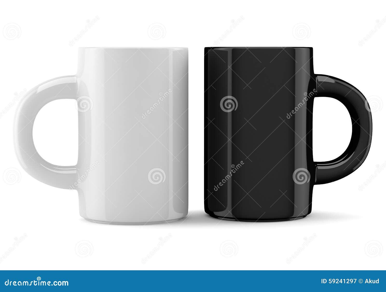 Tazas del café sólo blanco y