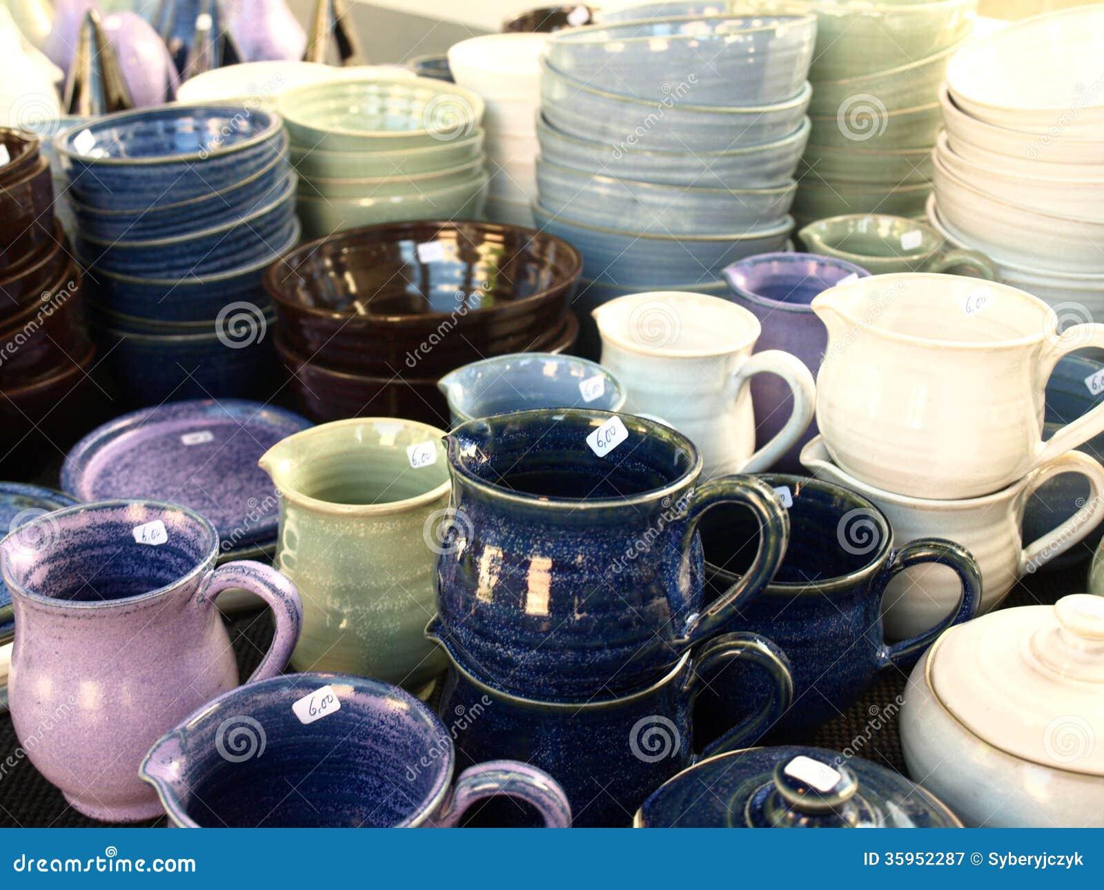 Tazas y cuencos de cerámica