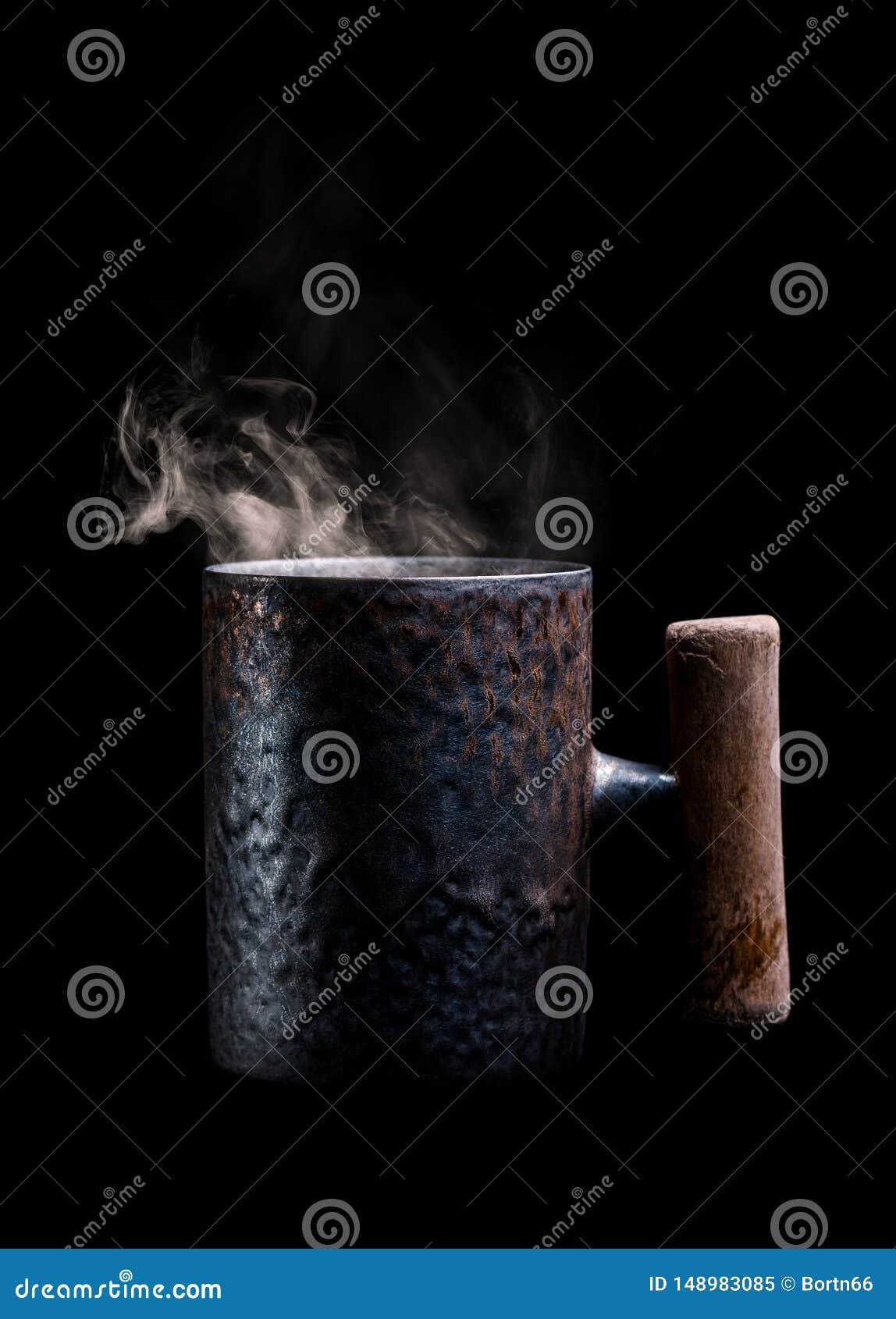 Tazza antica con caff? aromatico