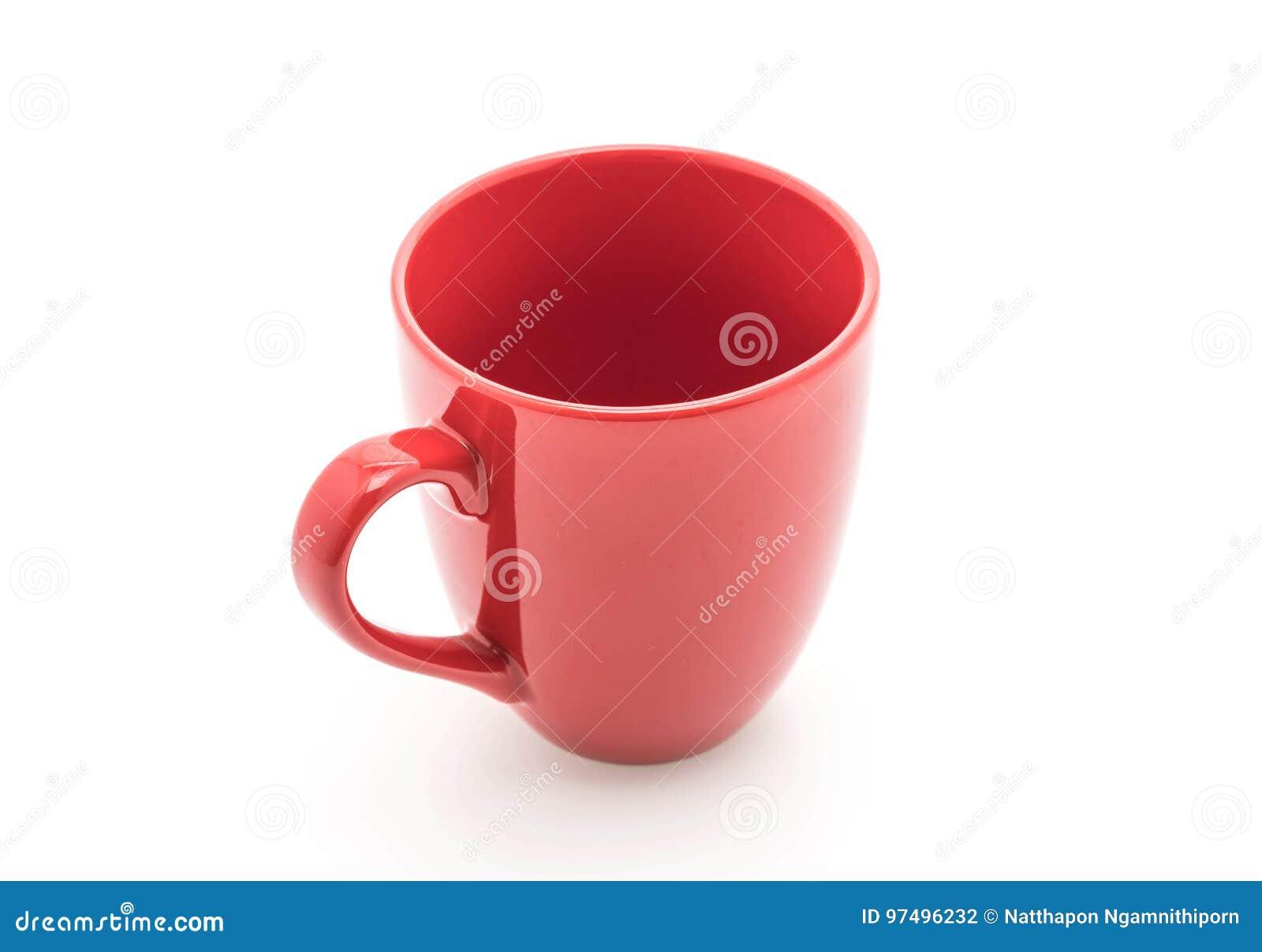 Tazza ceramica rossa