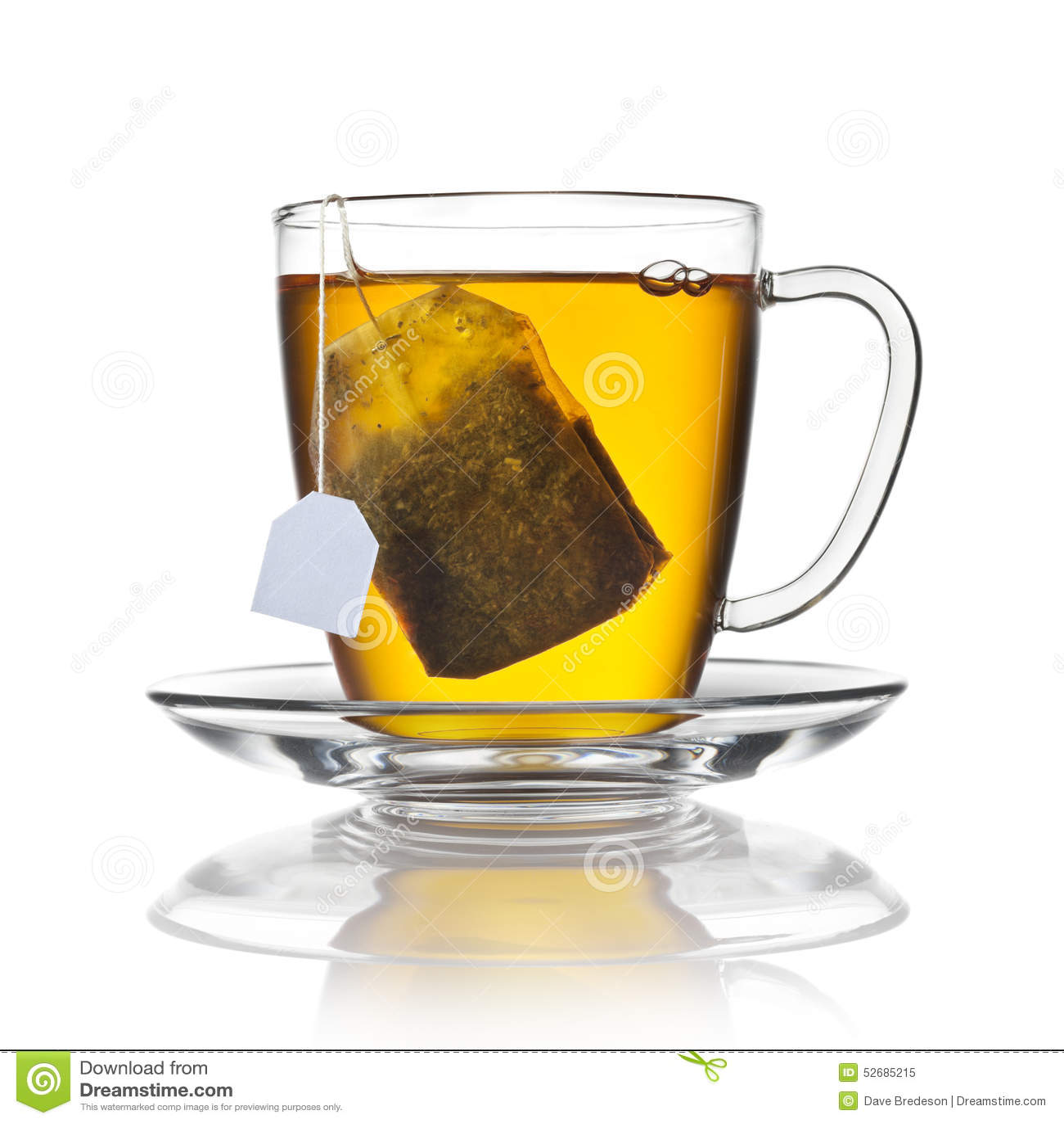 Tazza della bustina di tè isolata