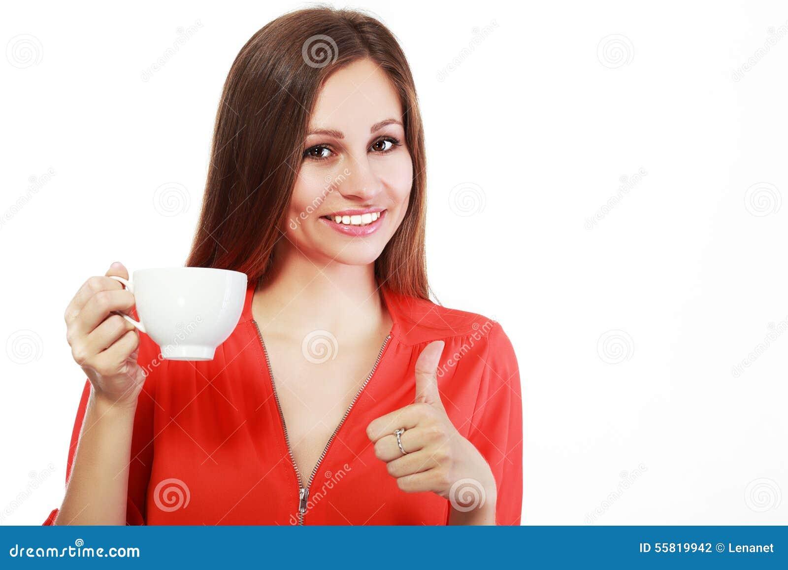 Tazza di caffè della donna