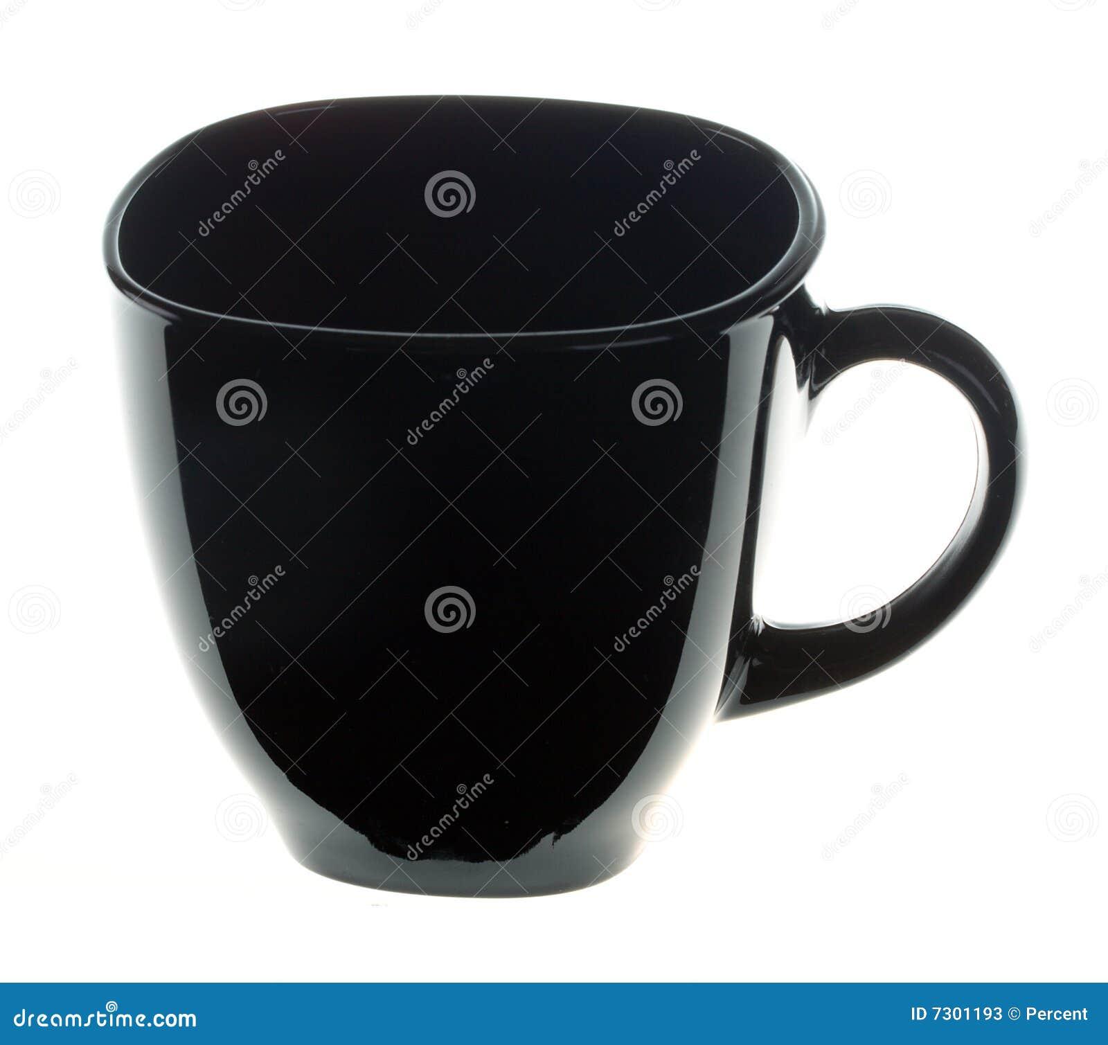 Tazza di caffè nera vuota