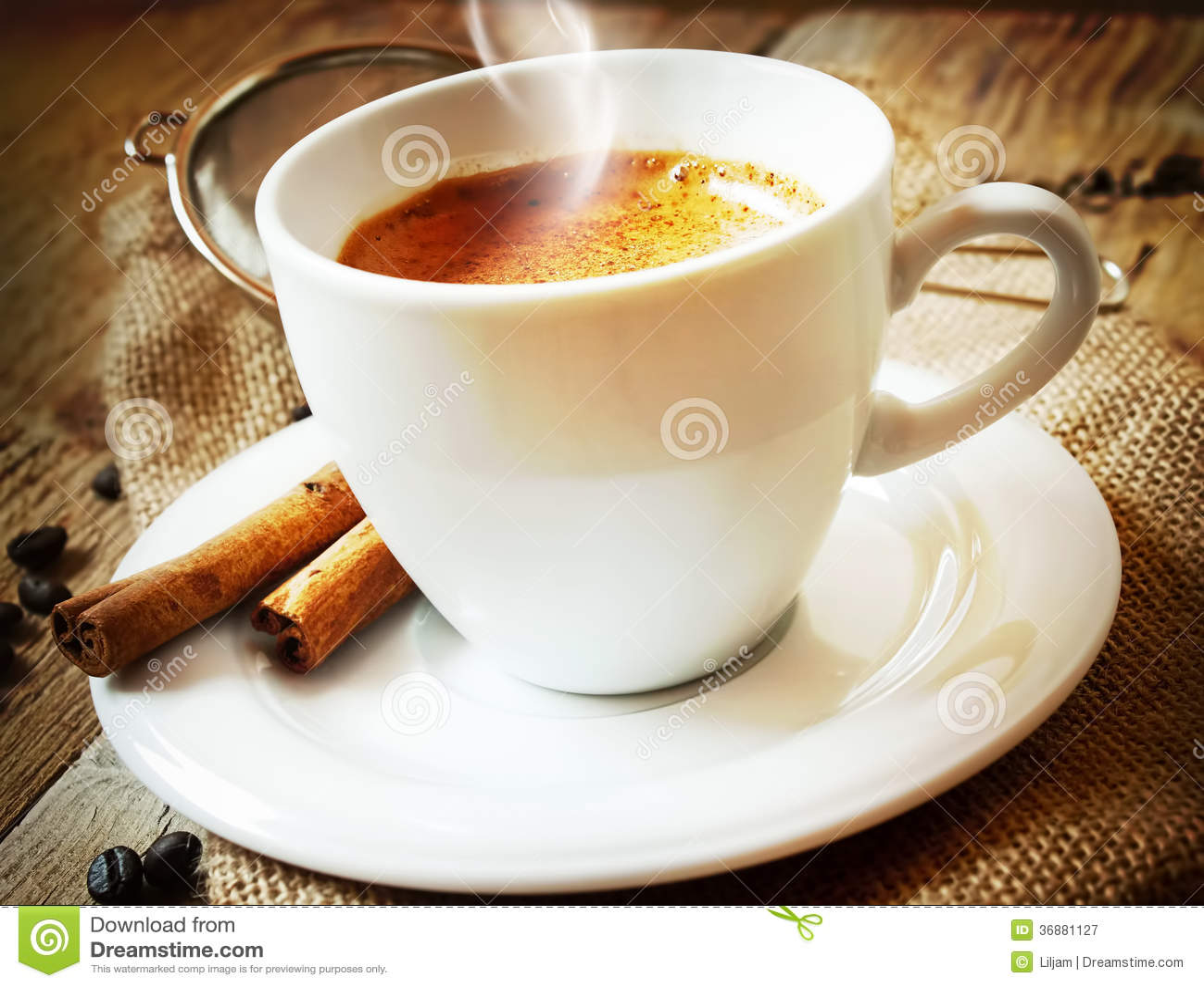 Download Tazza Di Cappucino. Caffè Italiano Immagine Stock - Immagine di background, beige: 36881127