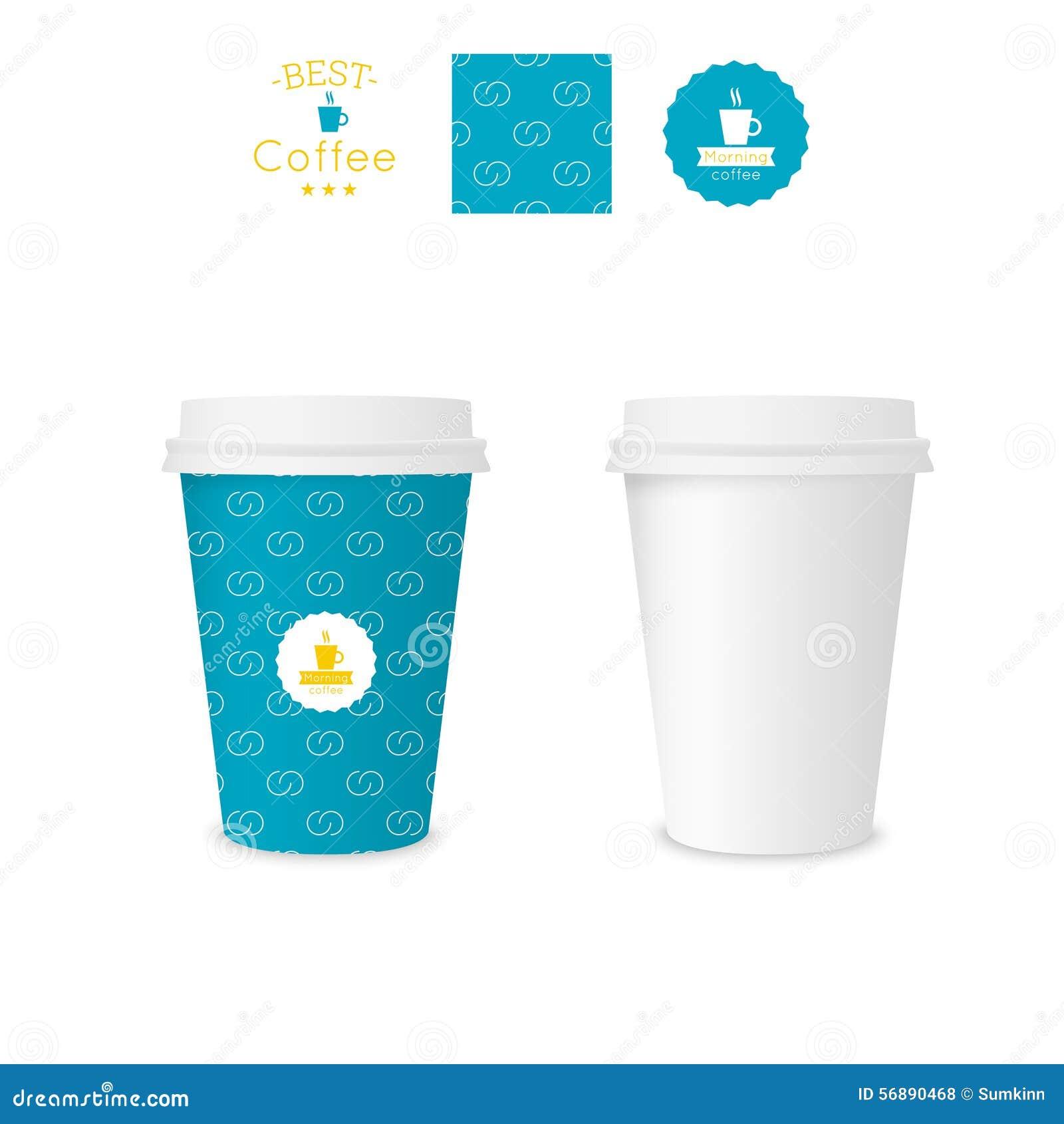 Tazza di carta chiusa per caffè con struttura