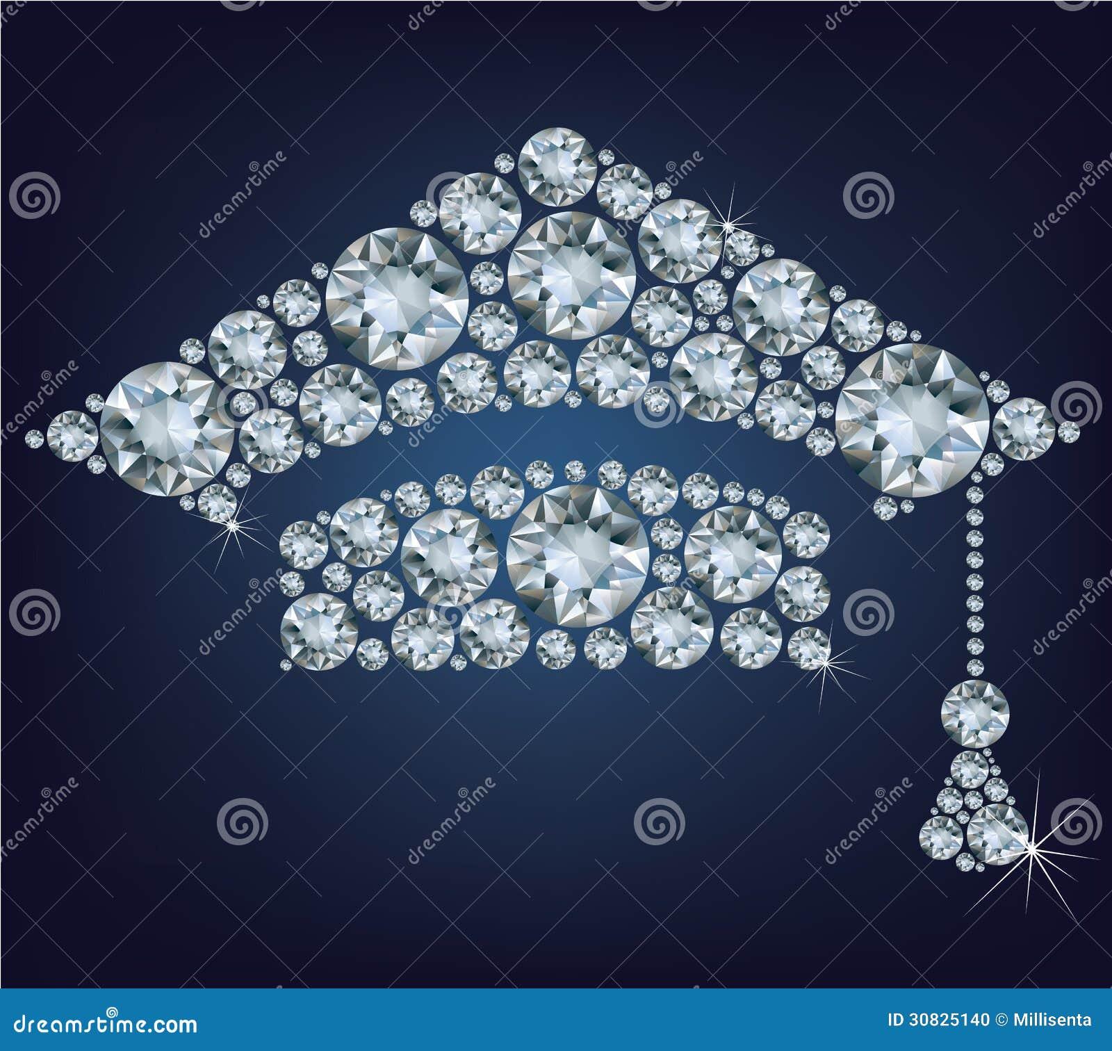 Tazza di istruzione fatta dai diamanti