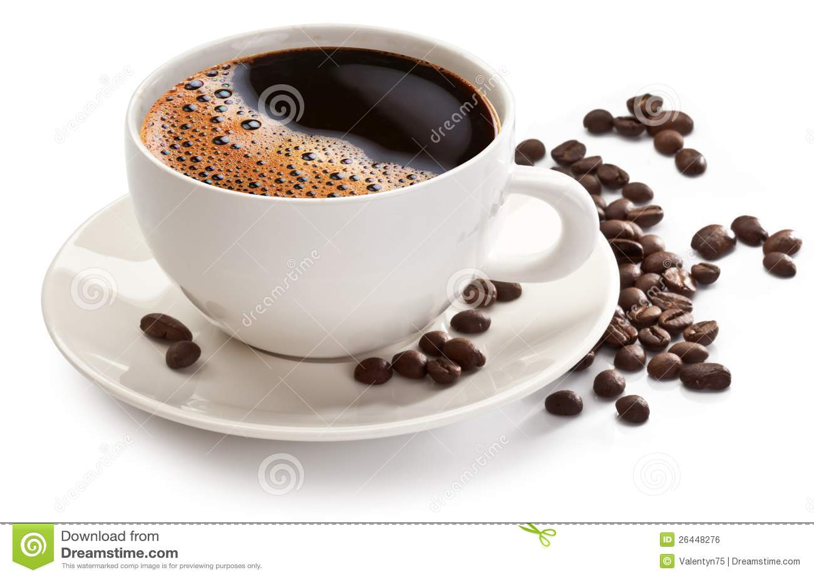 Tazza e fagioli di caffè