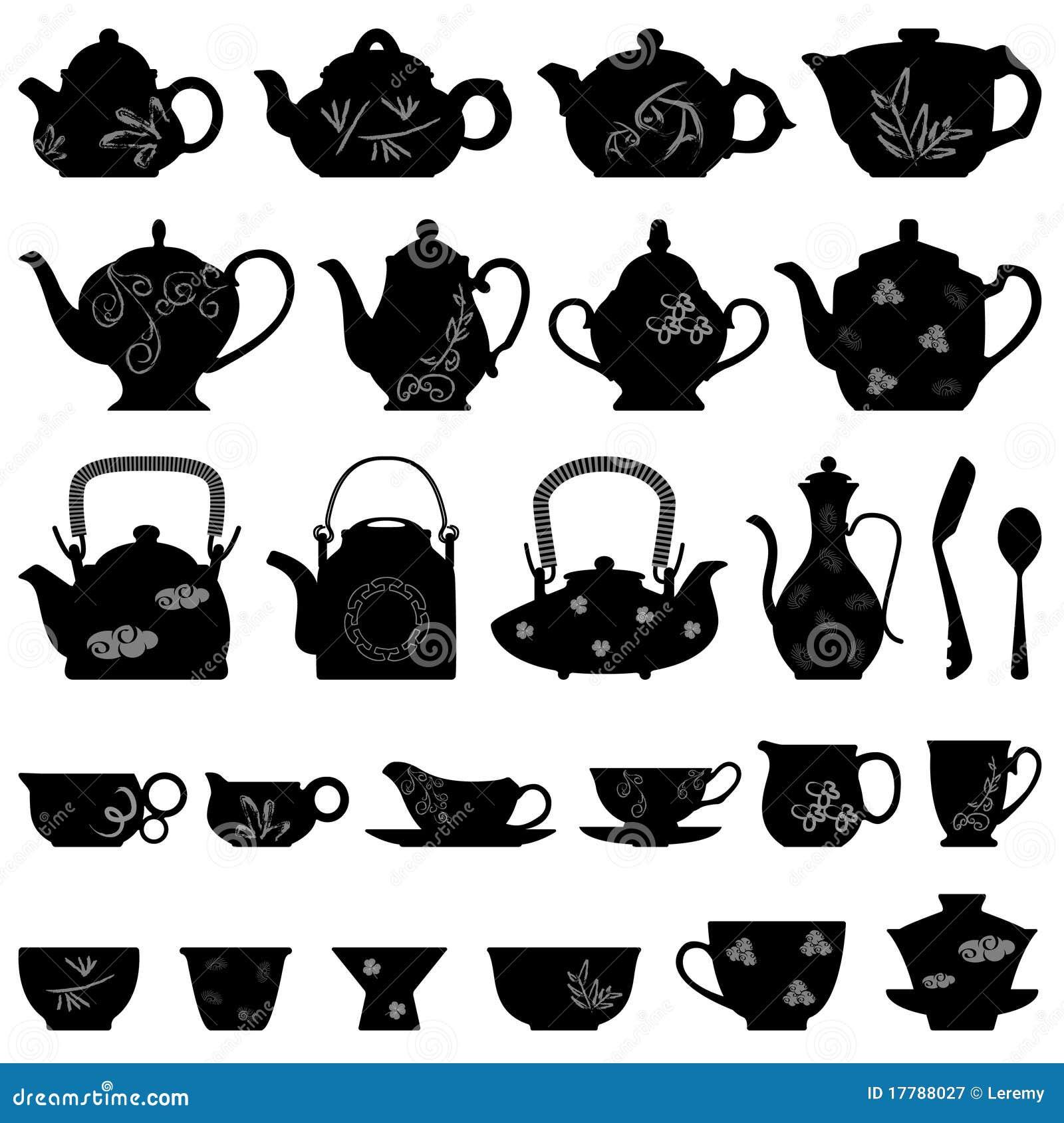 Tazza Orientale asiatico giapponese cinese della teiera del tè