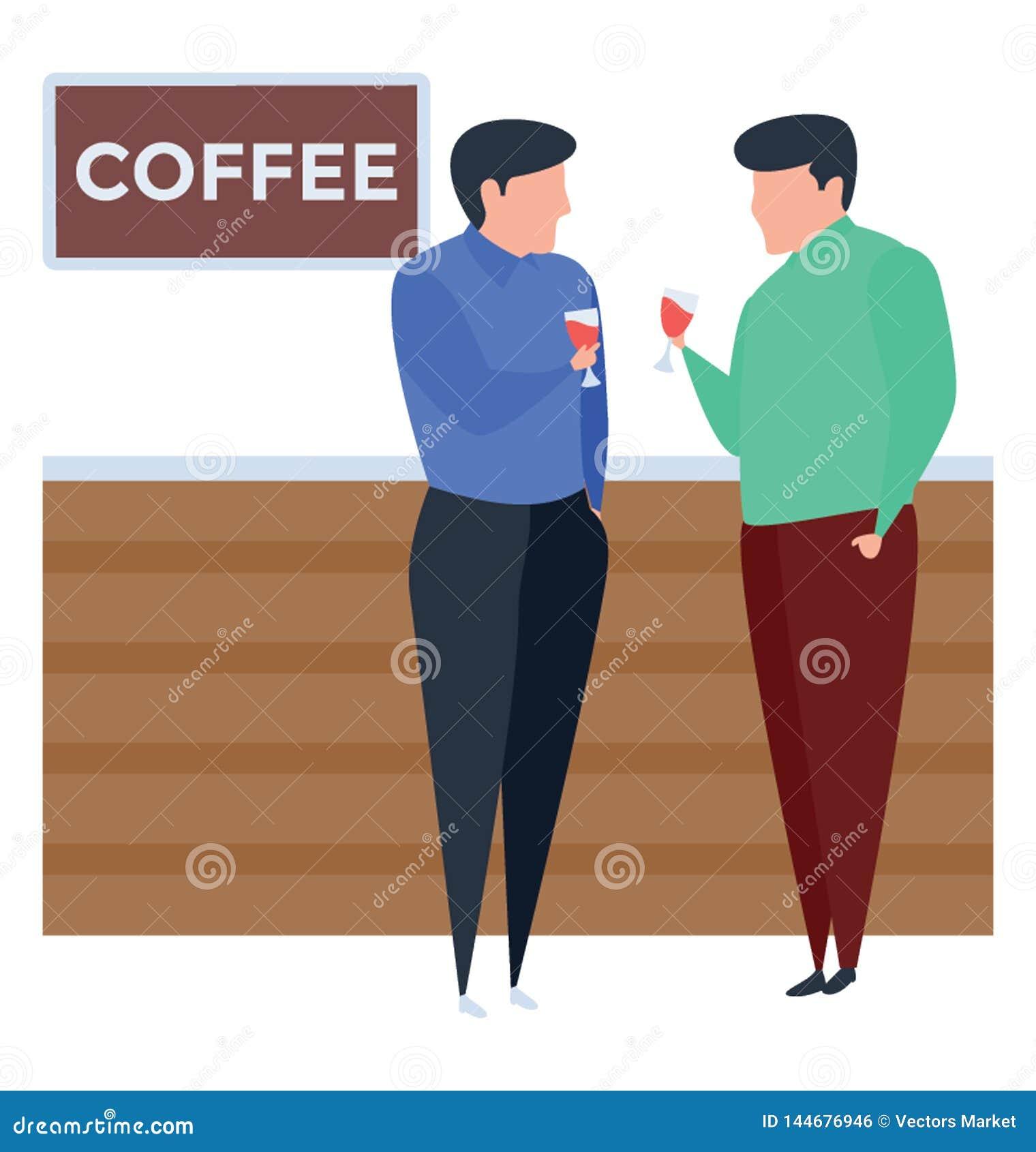 Tazze di caff? e chicchi di caff? freschi intorno