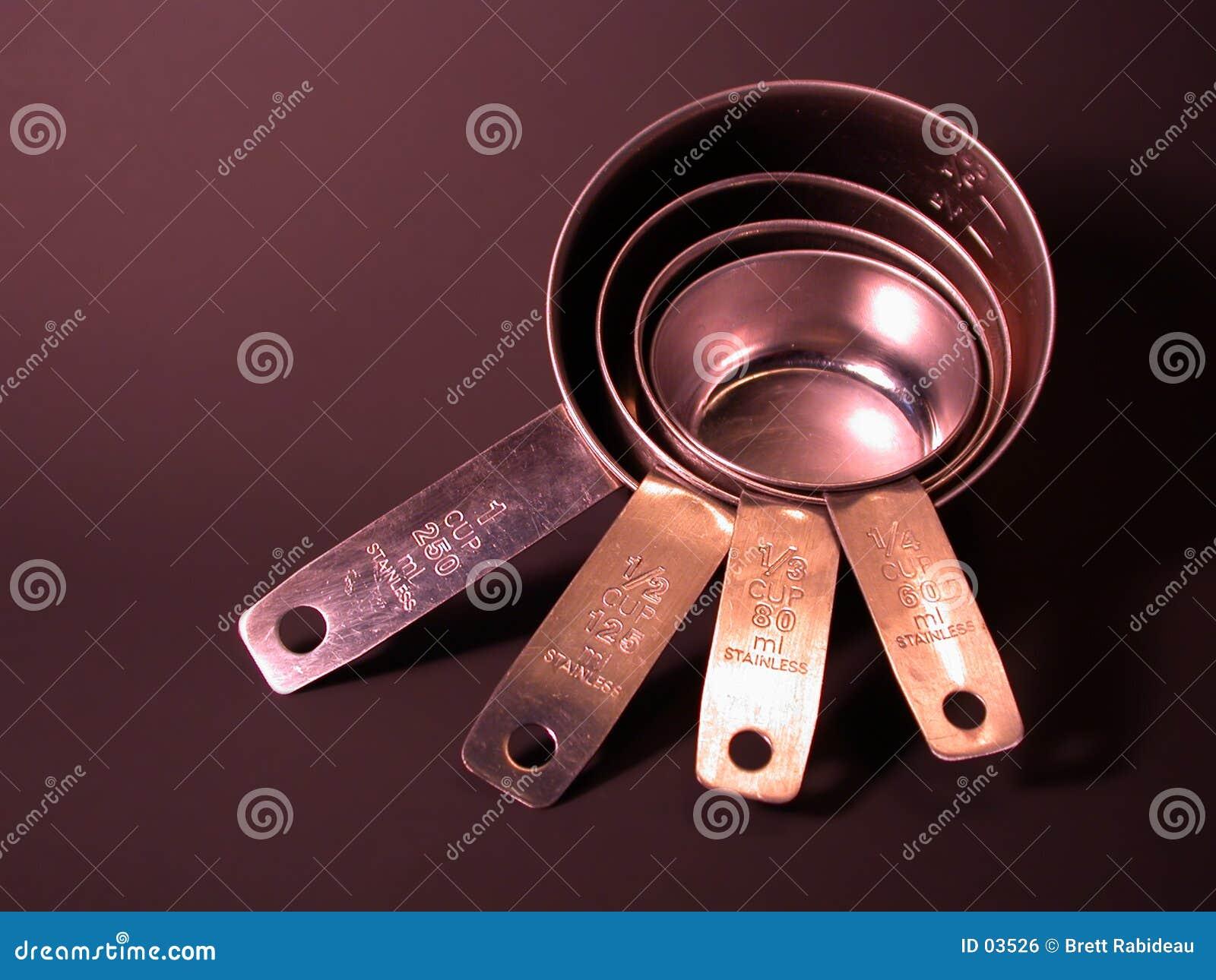 Tazze di misurazione dell acciaio inossidabile
