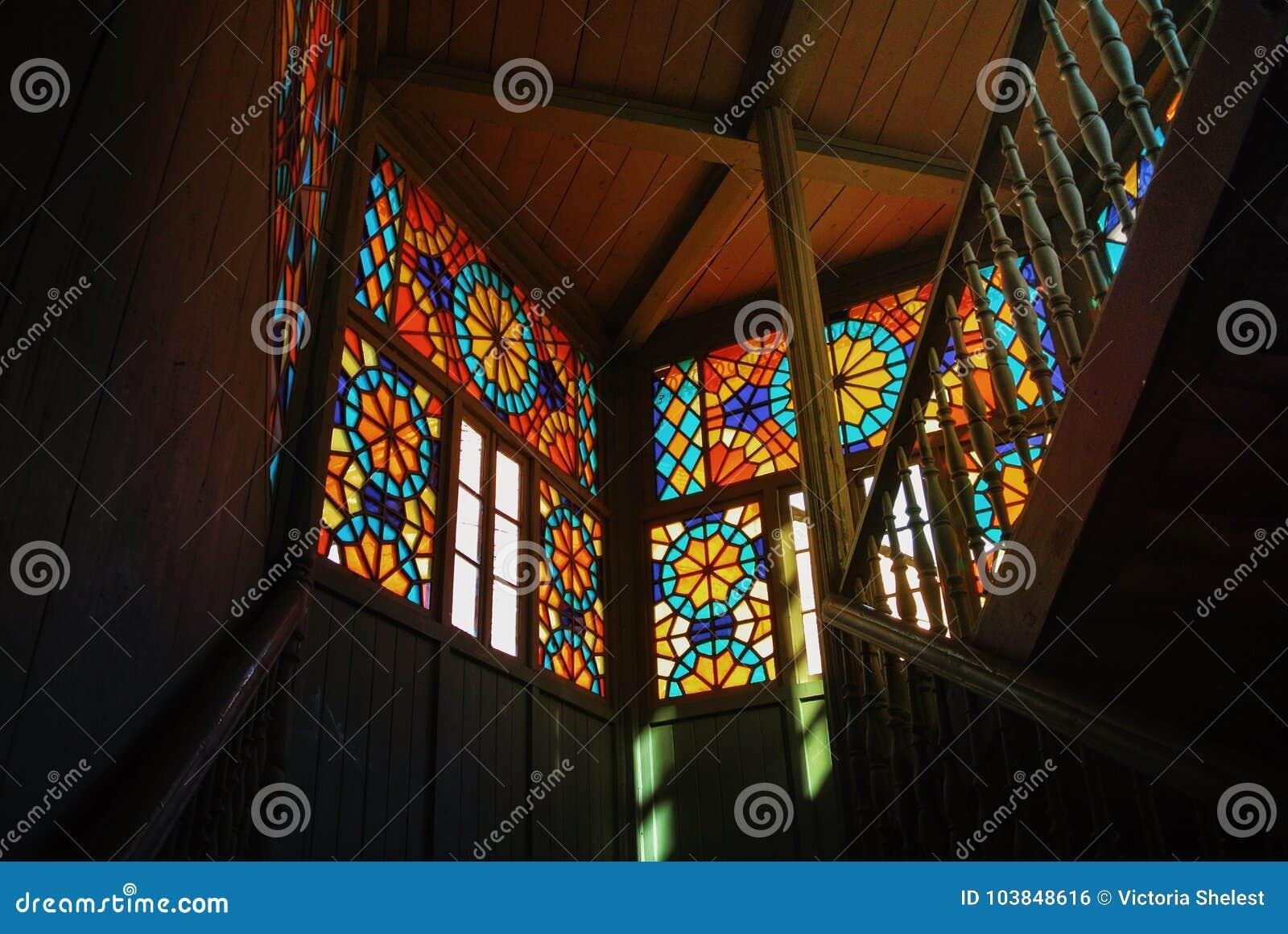 Tbilisi Georgia January 3 2016 Old Wooden Decorated Interio