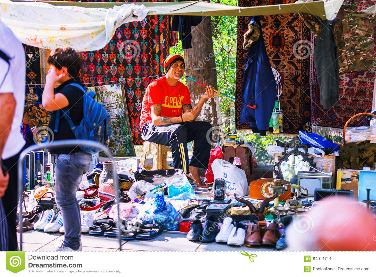 Georgia Tbilisi Flea Market Stock Photos Georgia Tbilisi: 08 October, 2016: An Unidentified
