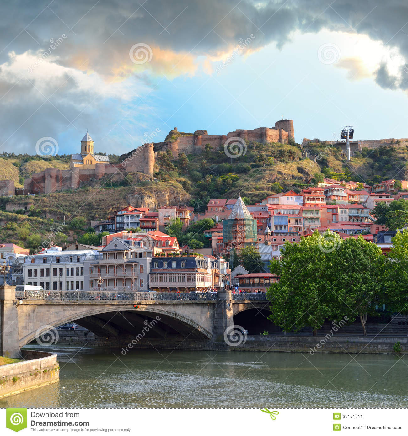 Tbilisi Old Town Stock Photo Image 39171911