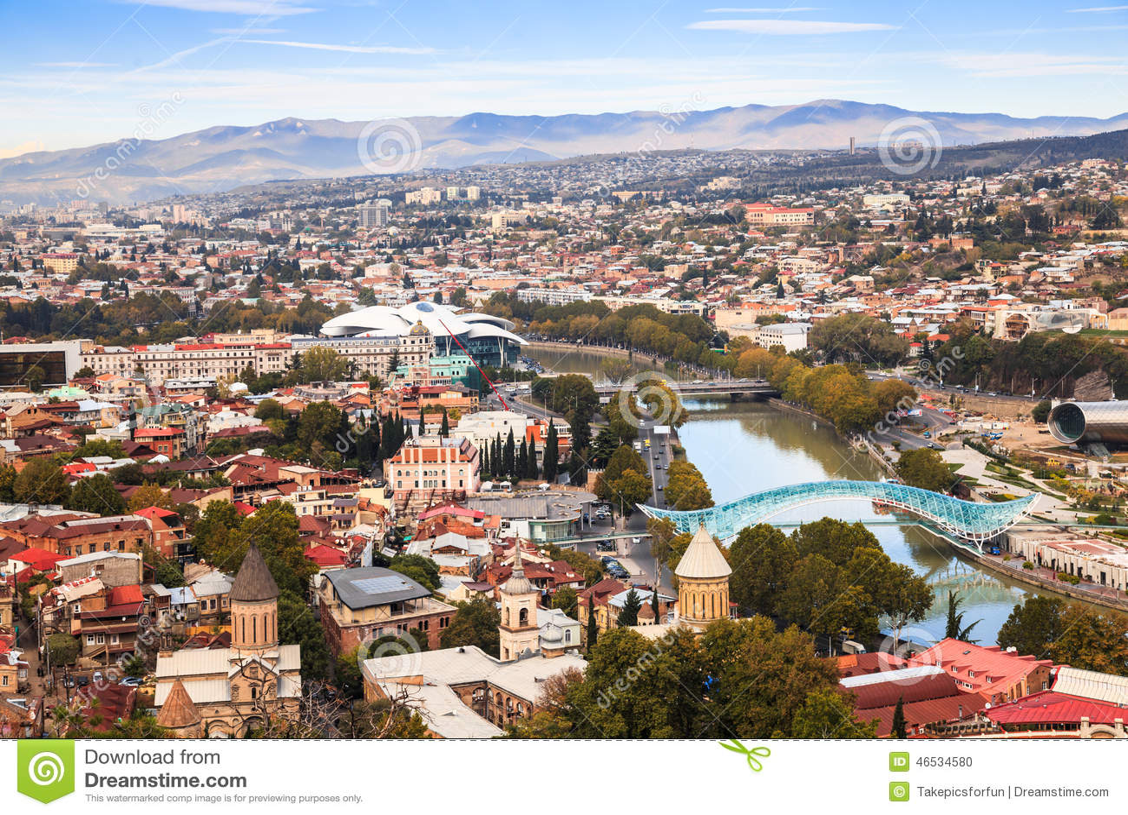 Tbilisi Tskneti Mountain Villa Tbilisi City Georgia: Tbilisi Skyline Stock Photo. Image Of Tbilisi, Mountain
