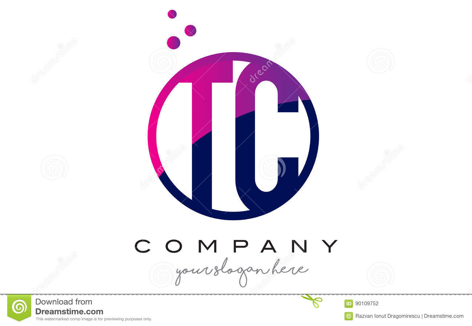 Tc t c circle letter logo design with purple dots bubbles stock tc t c circle letter logo design with purple dots bubbles biocorpaavc Images