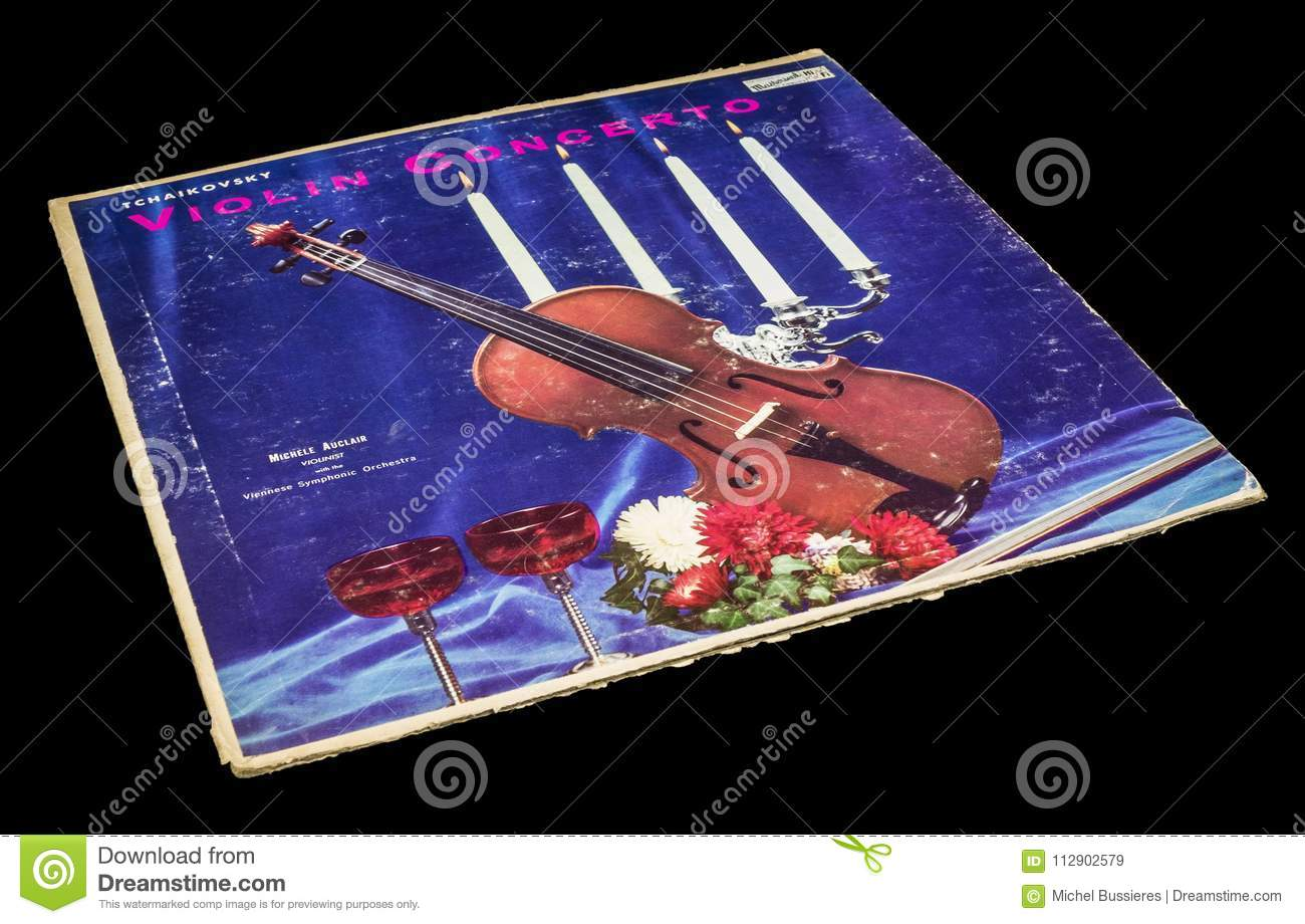 Tchaikovsky Violin Concerto Album Editorial Stock Image - Image of