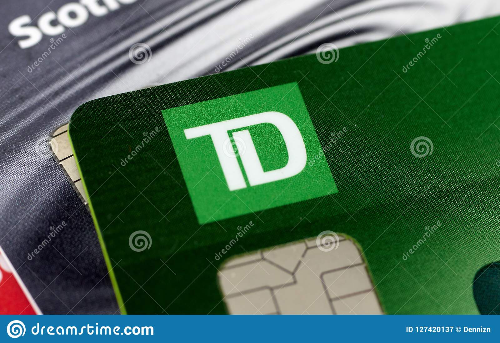 Td Bank Credit Cards Editorial Photography Image Of Credit 127420137