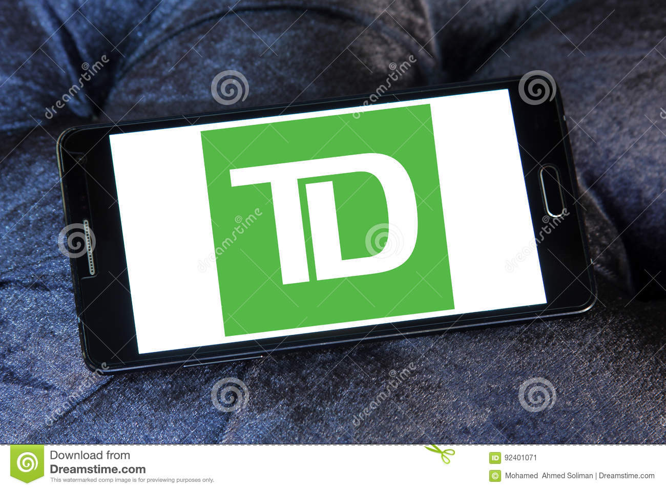 TD Bank logo editorial photo  Image of cash, investment