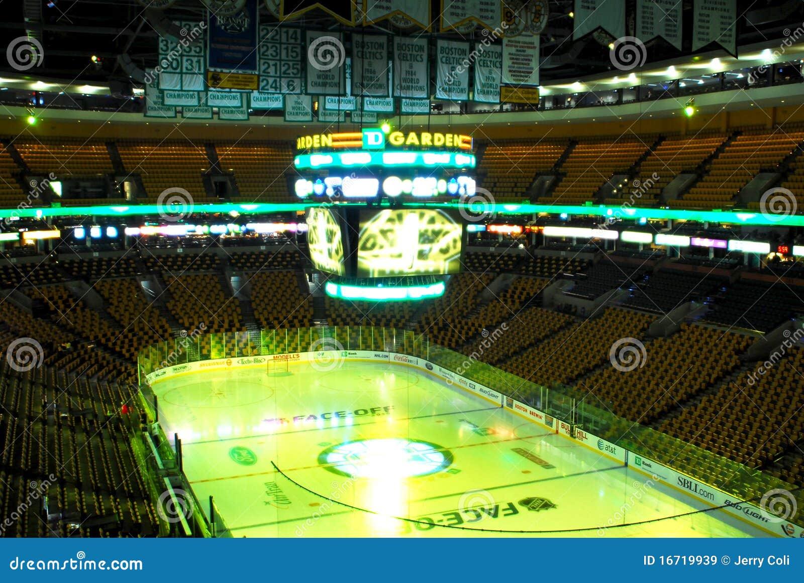 Td Garden Set Up For Bruins Hockey Editorial Stock Image Image 16719939