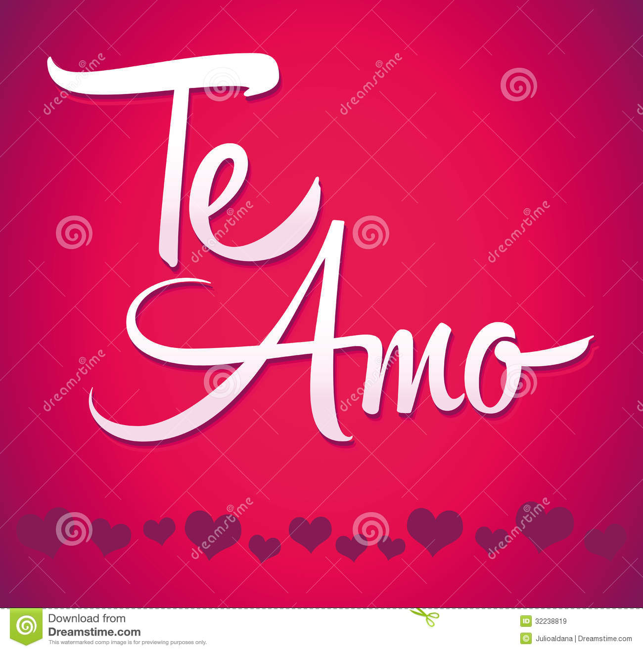 Te Amo - Spanish Love You Lettering - Calligraphy Royalty Free Stock ...