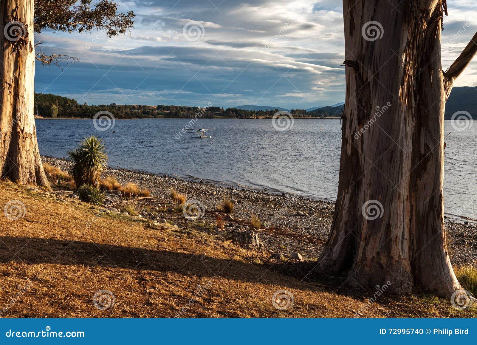TE ANAU, FIORDLAND/NUEVA ZELANDA - 17 DE FEBRERO: El hidroavión amarró a