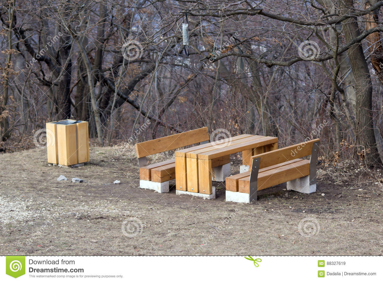 Te Forest Furniture. Stock Photo