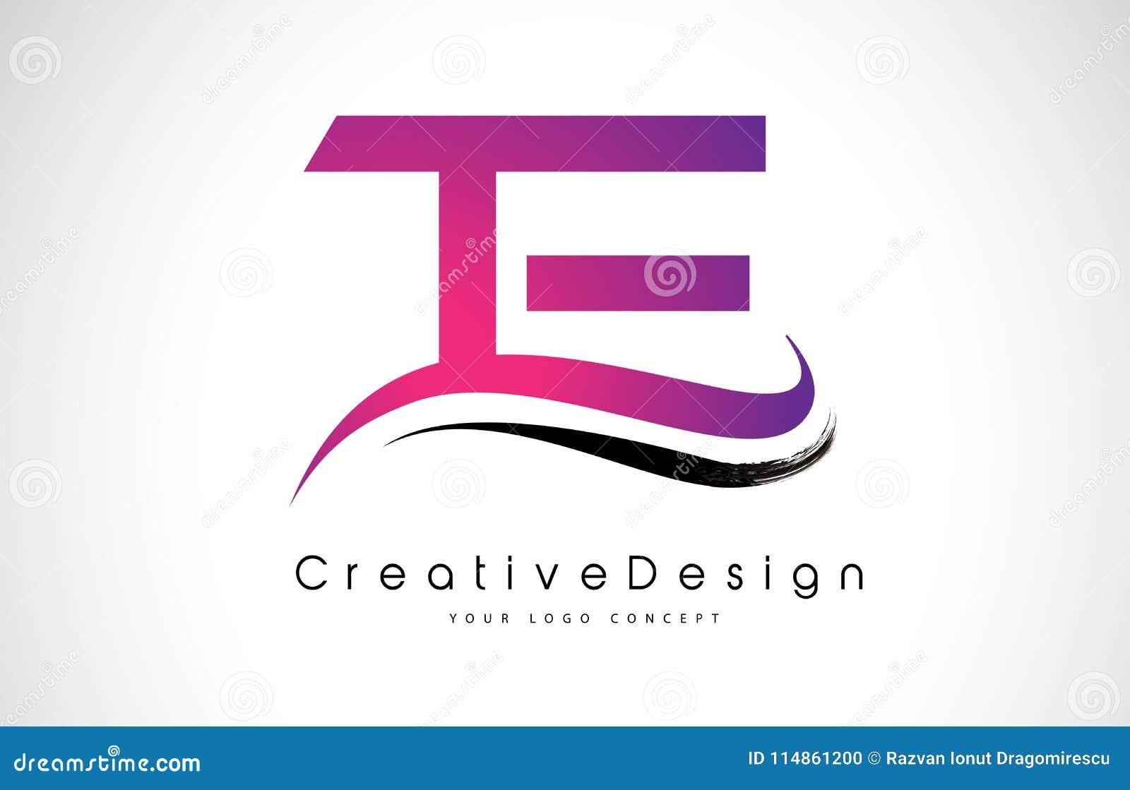 te t e letter logo design creative icon modern letters vector l