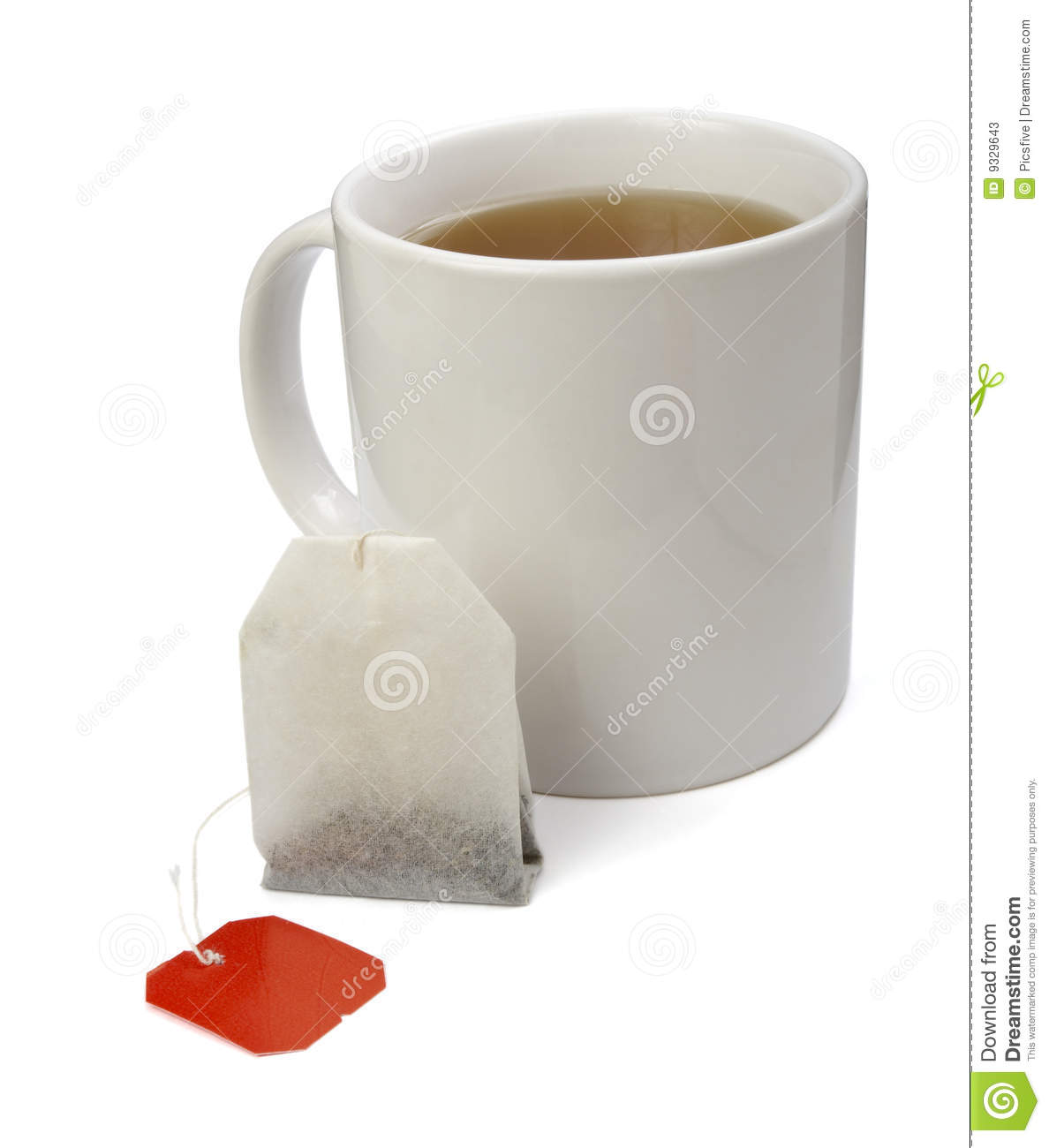 Tea bag and cup