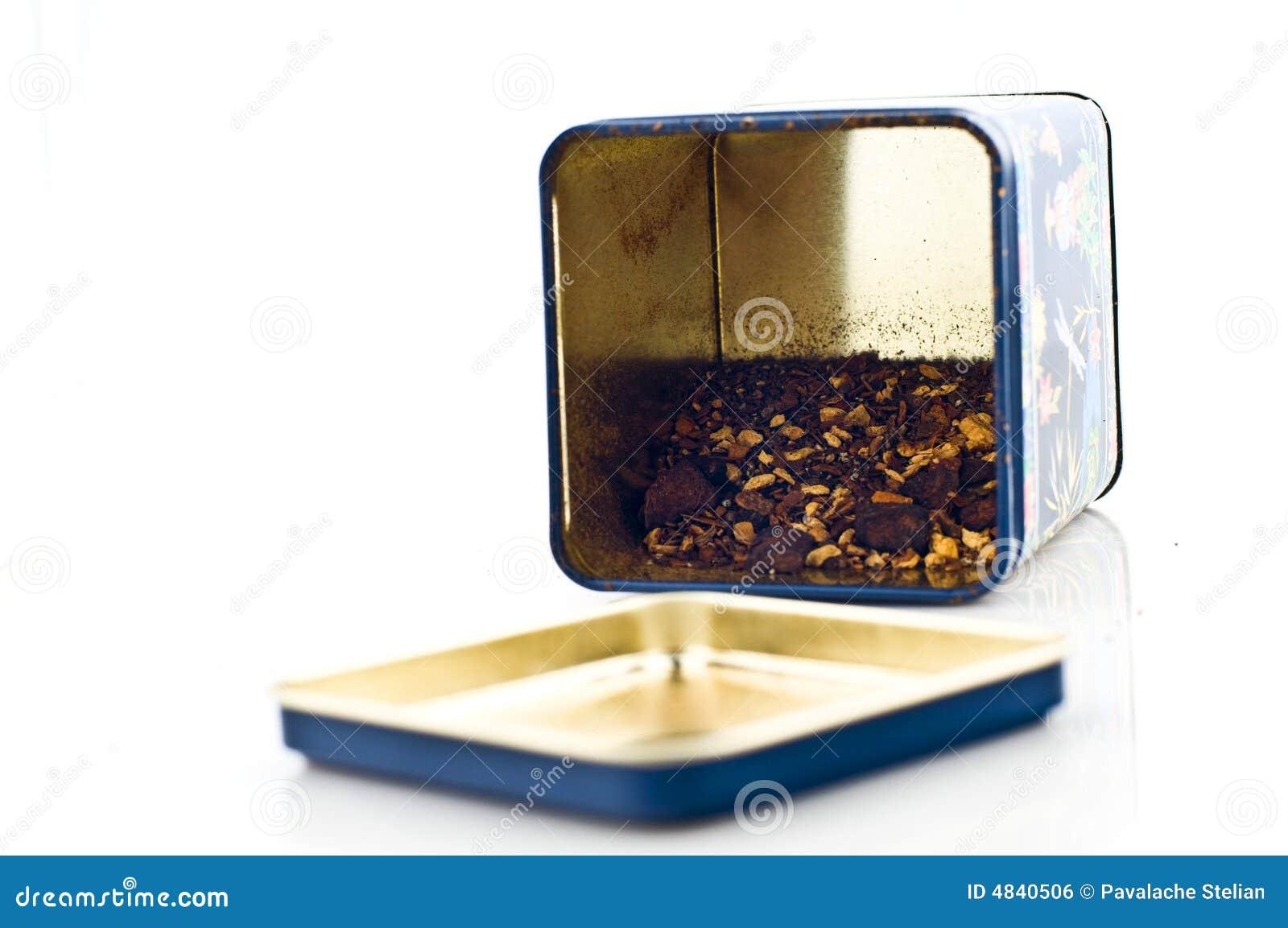 Tea box with tea
