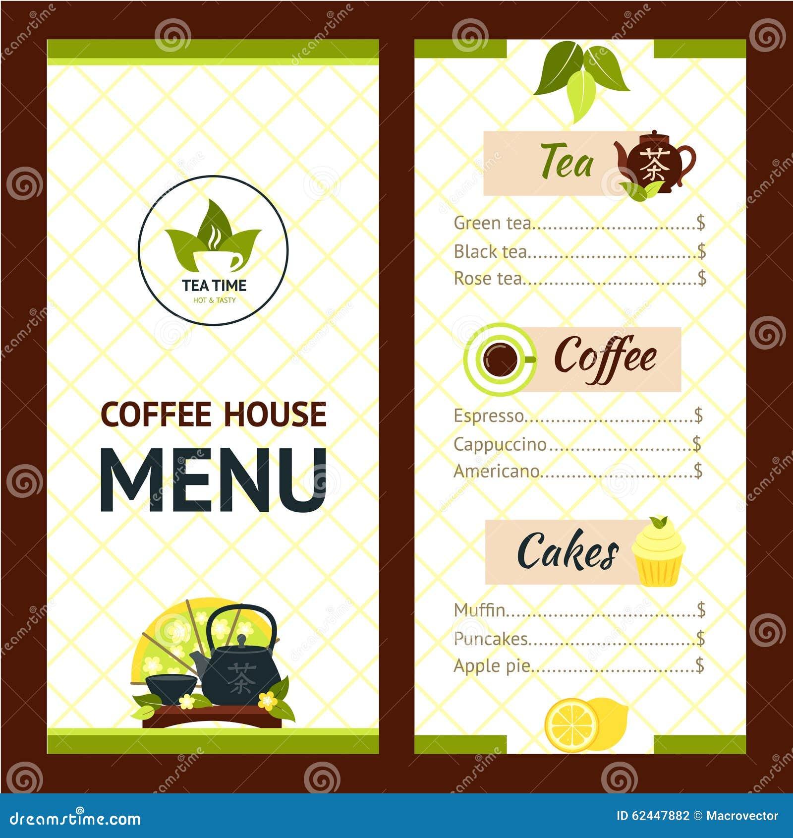 espresso menu templates www