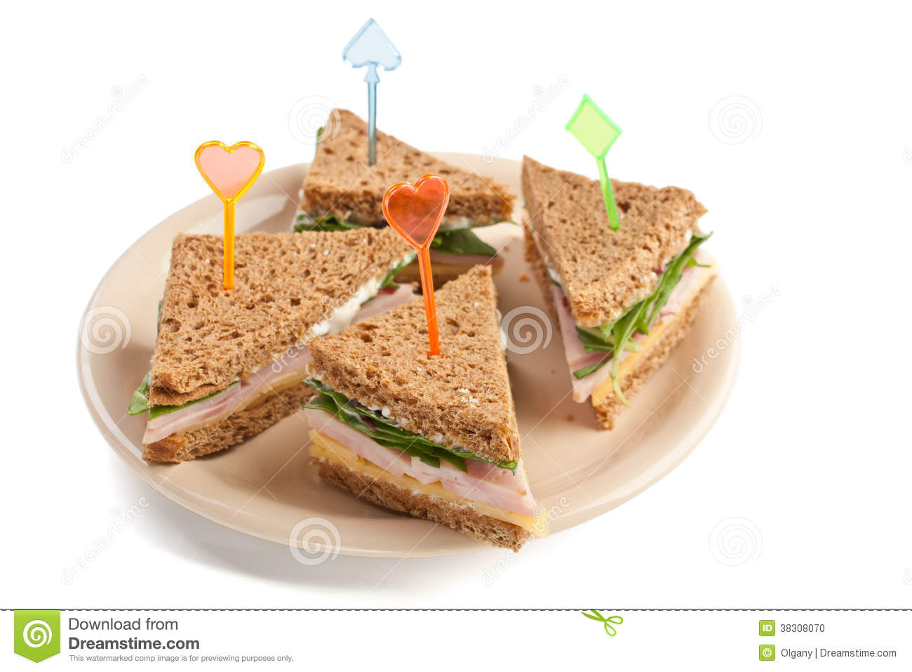 tea canape sandwiches stock photo image of isolated