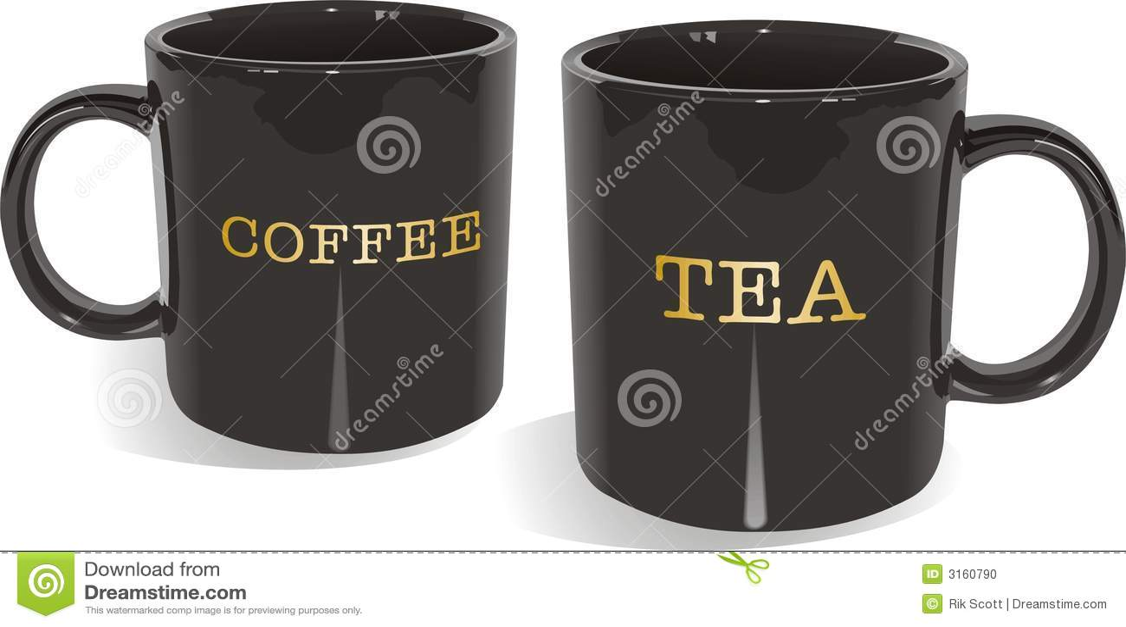 tea and coffee mugs stock photo image 3160790