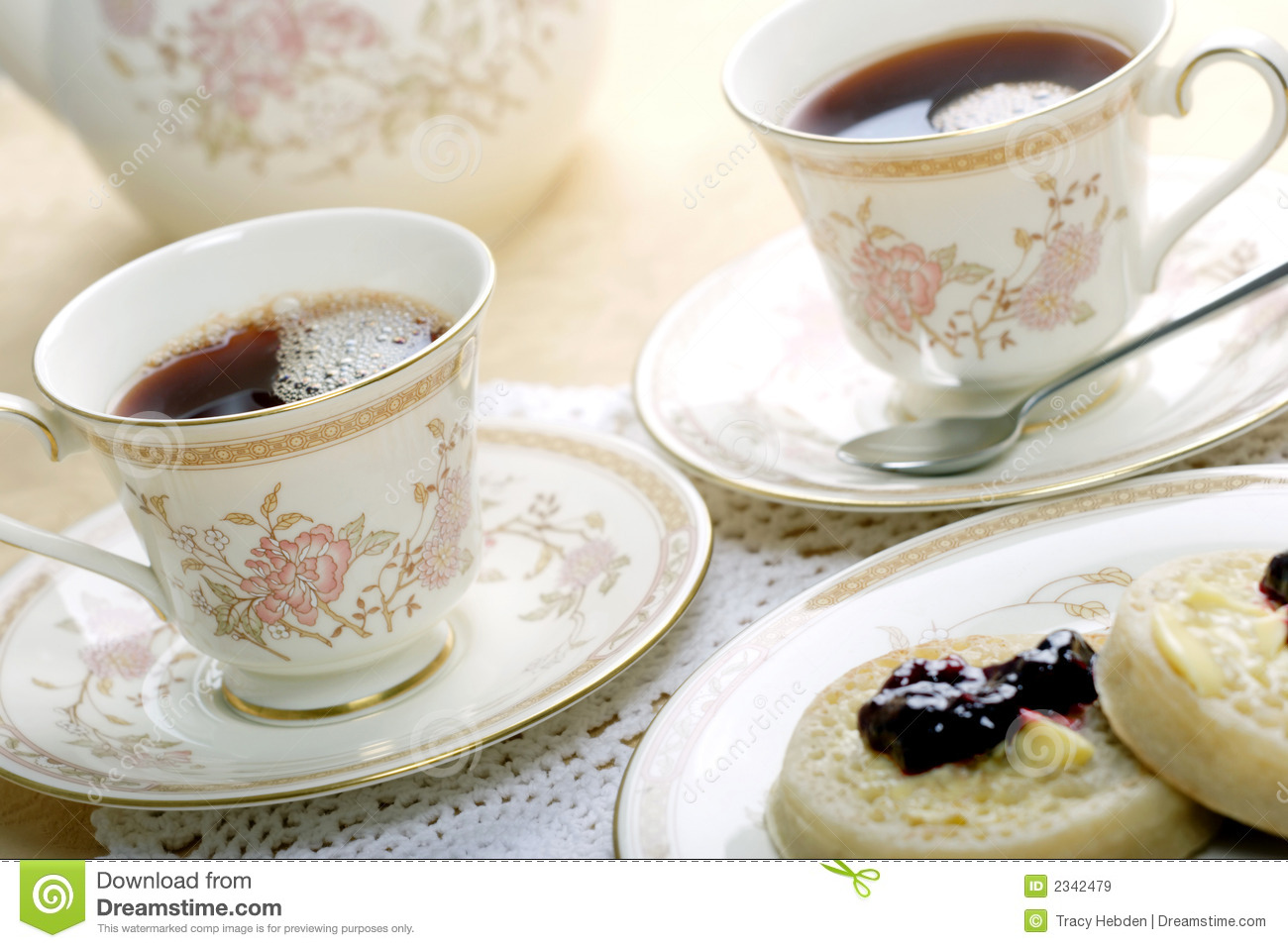 Tea And Crumpets Royalty Free Stock Images Image 2342479
