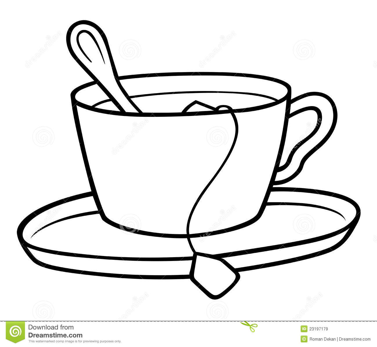 tea cup clipart black and white - photo #17