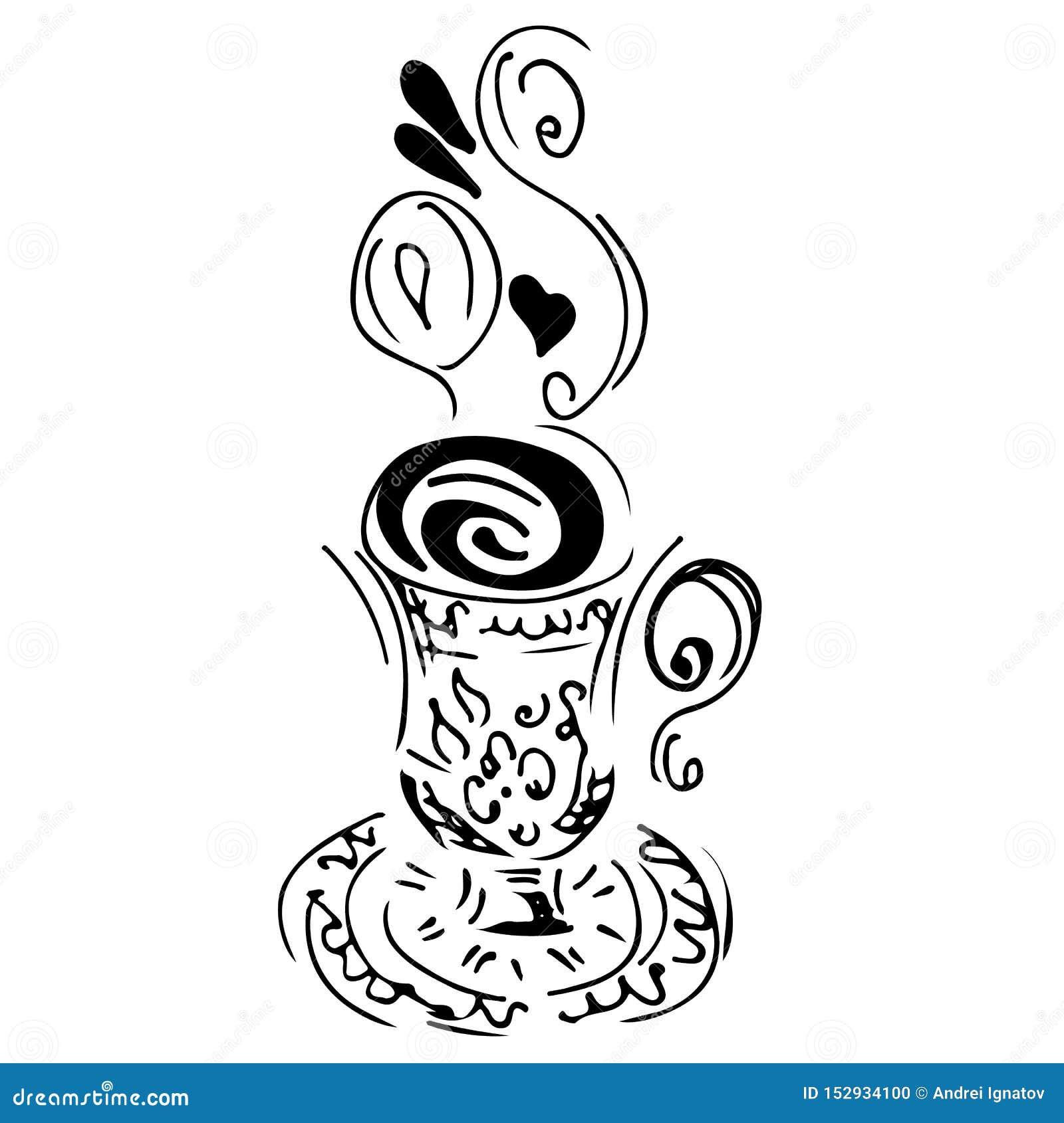 Sketch Coffee Art Drawing