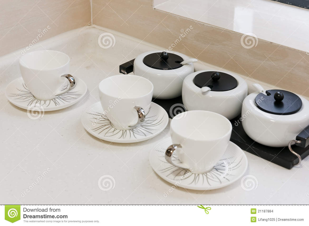 Tea cup in kitchen