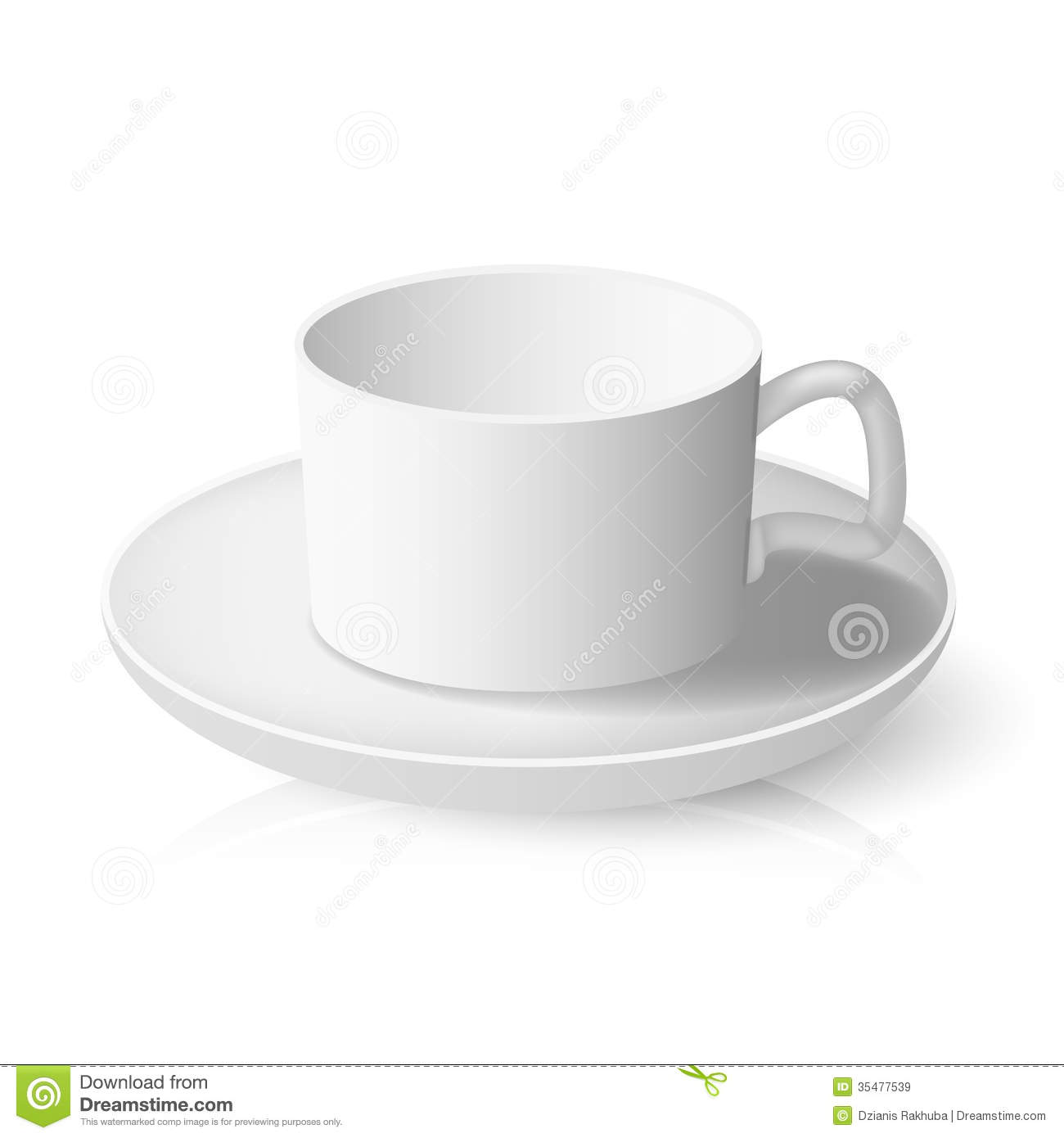 Tea cup stock vector. Image of object, design, saucer ...