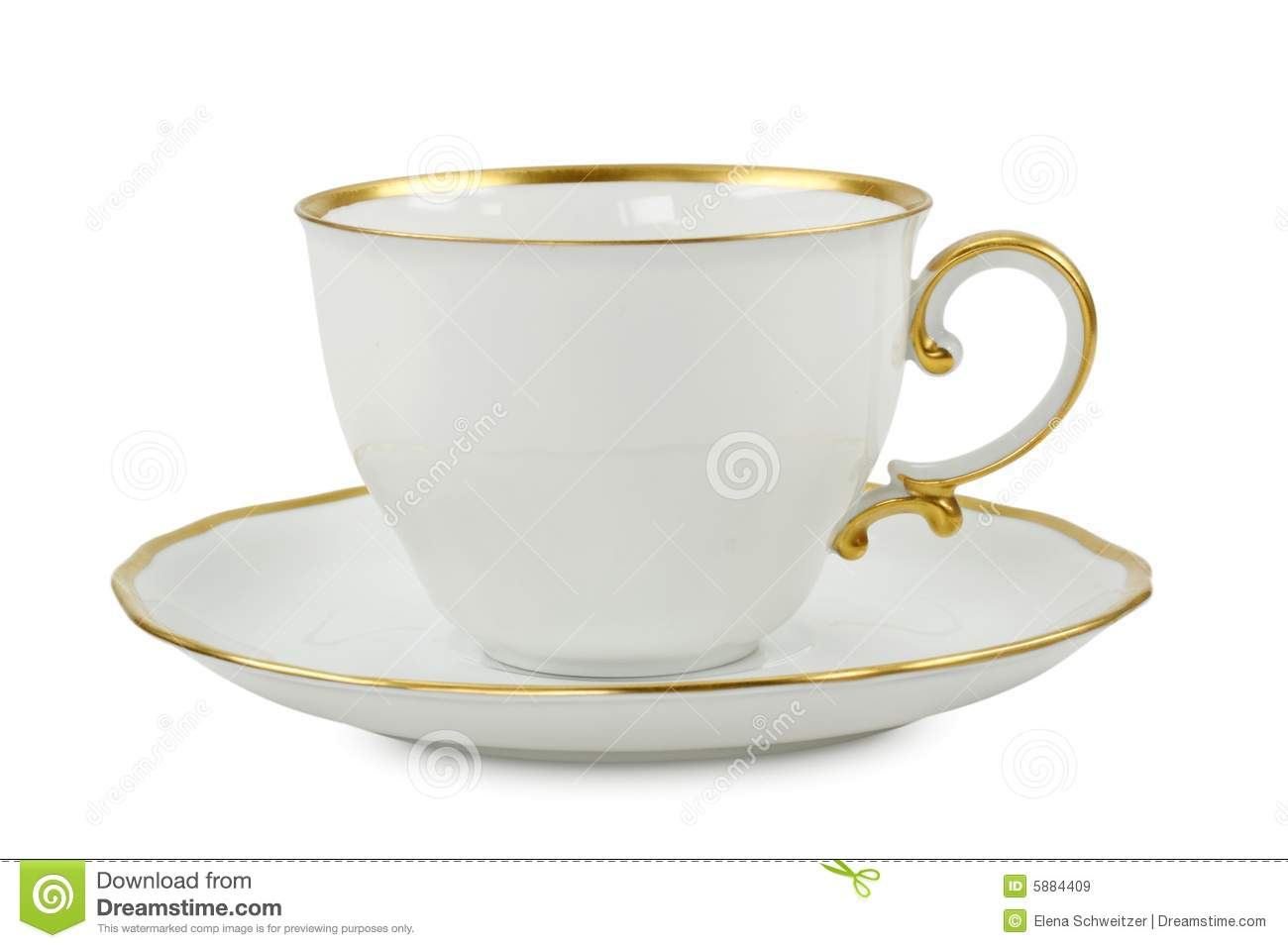 tea cup with plate stock image image of isolated service 5884409