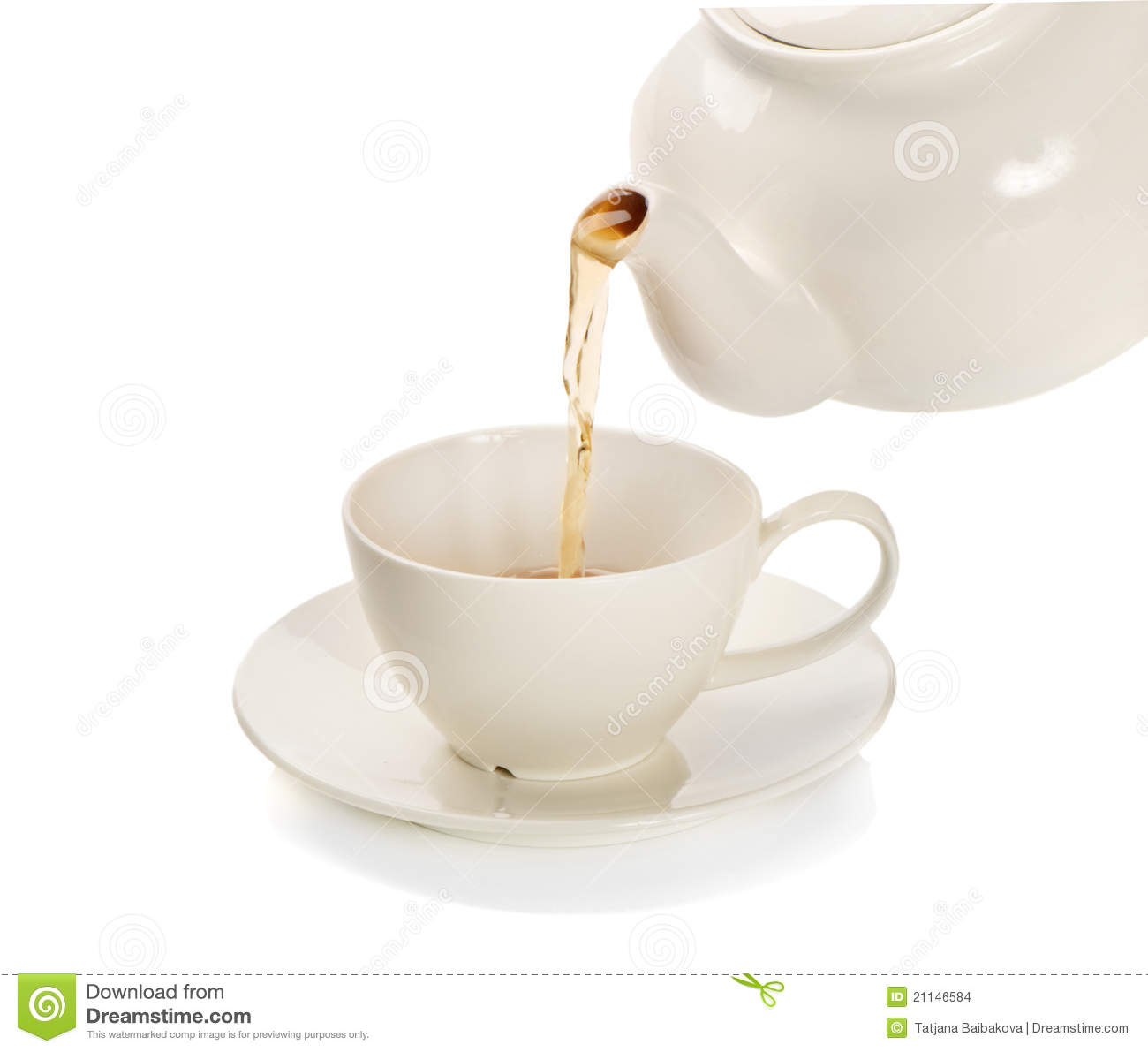 Tea Cup And Teapot Stock Photo Image Of Healthy Cuppa