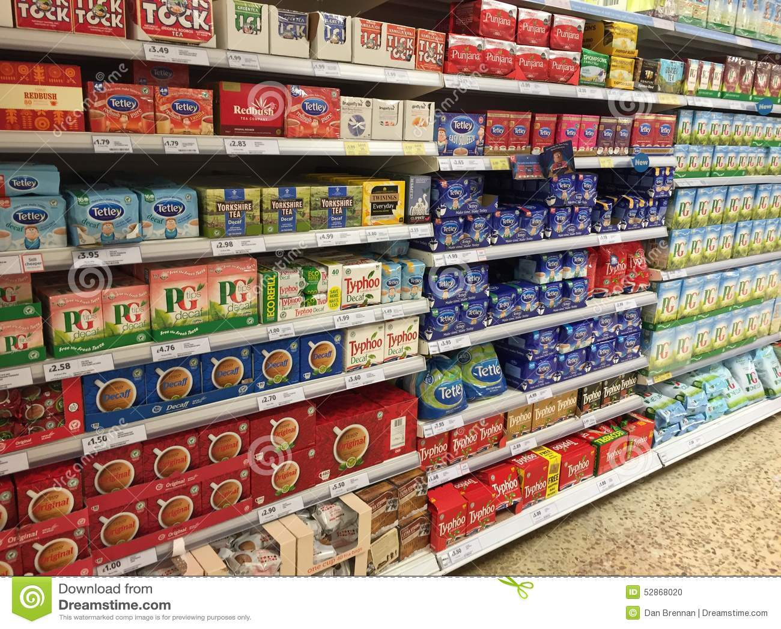 tea display editorial image image of display tetley 52868020