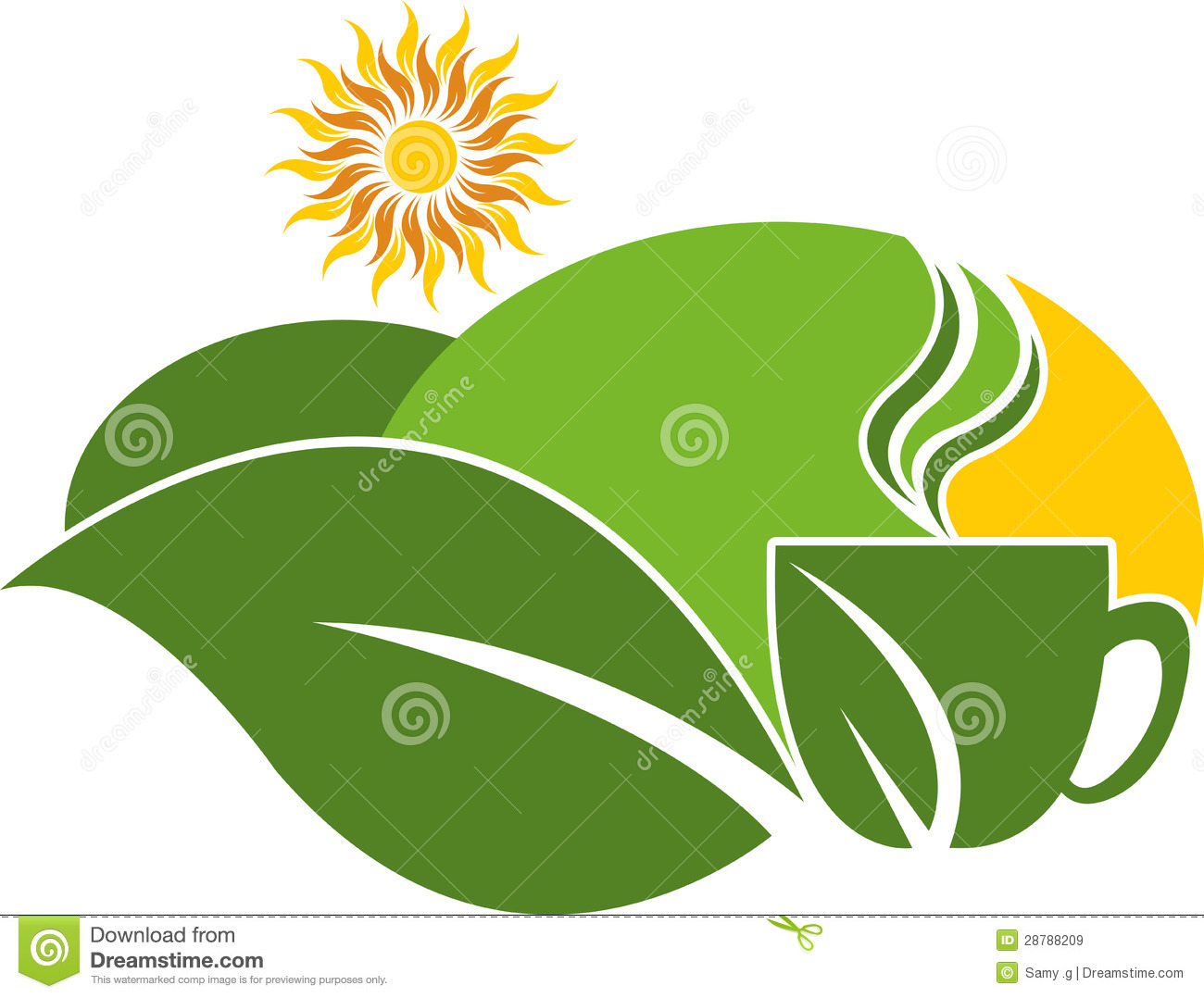 Royalty Free Stock Images Tea Estate Logo Image28788209 on Green Environmental Clip Art
