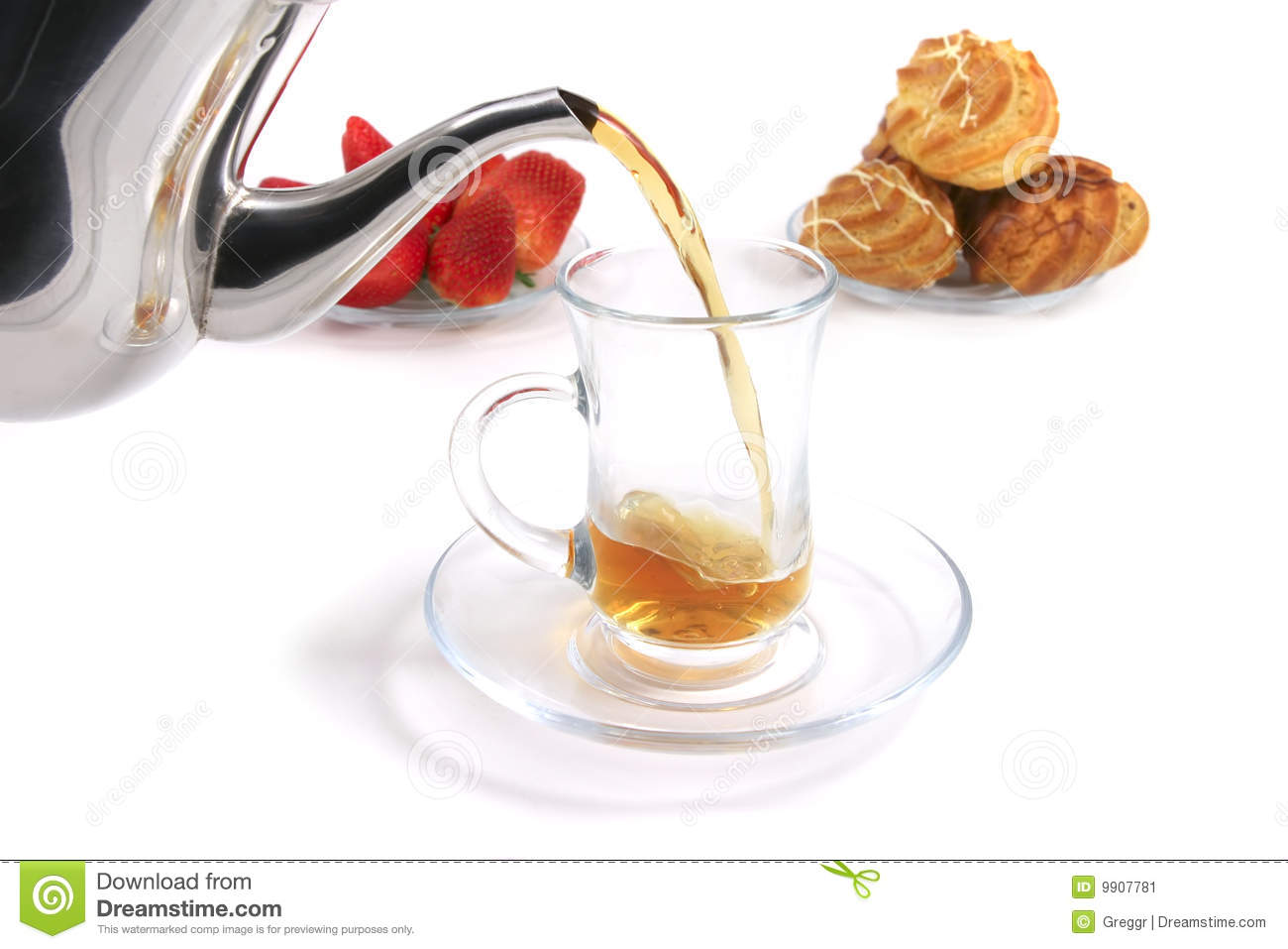 Tea Fill Tea Cup Stock Image - Image: 9907781