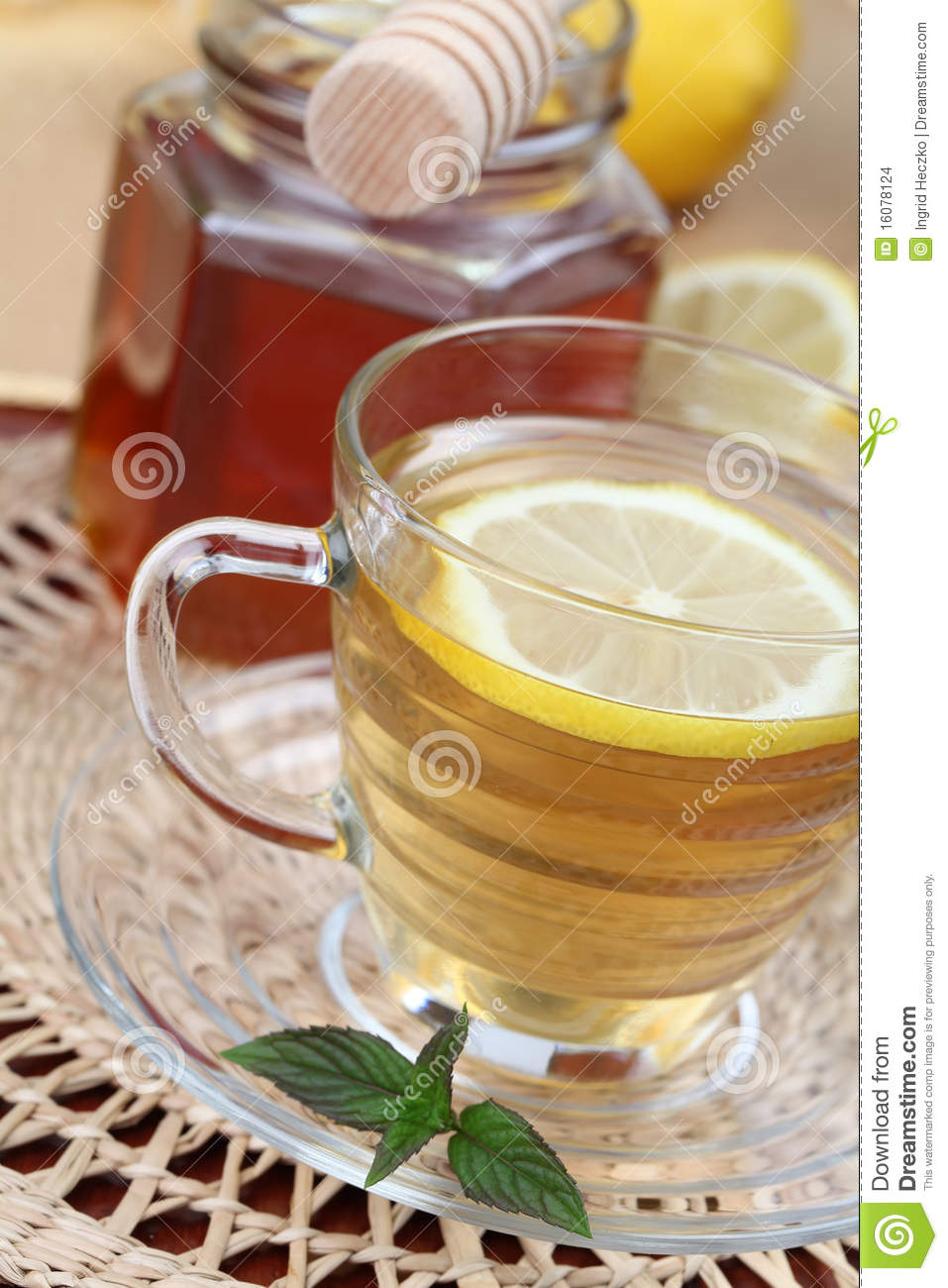 Tea With Honey And Lemon Stock Images - Image: 16078124